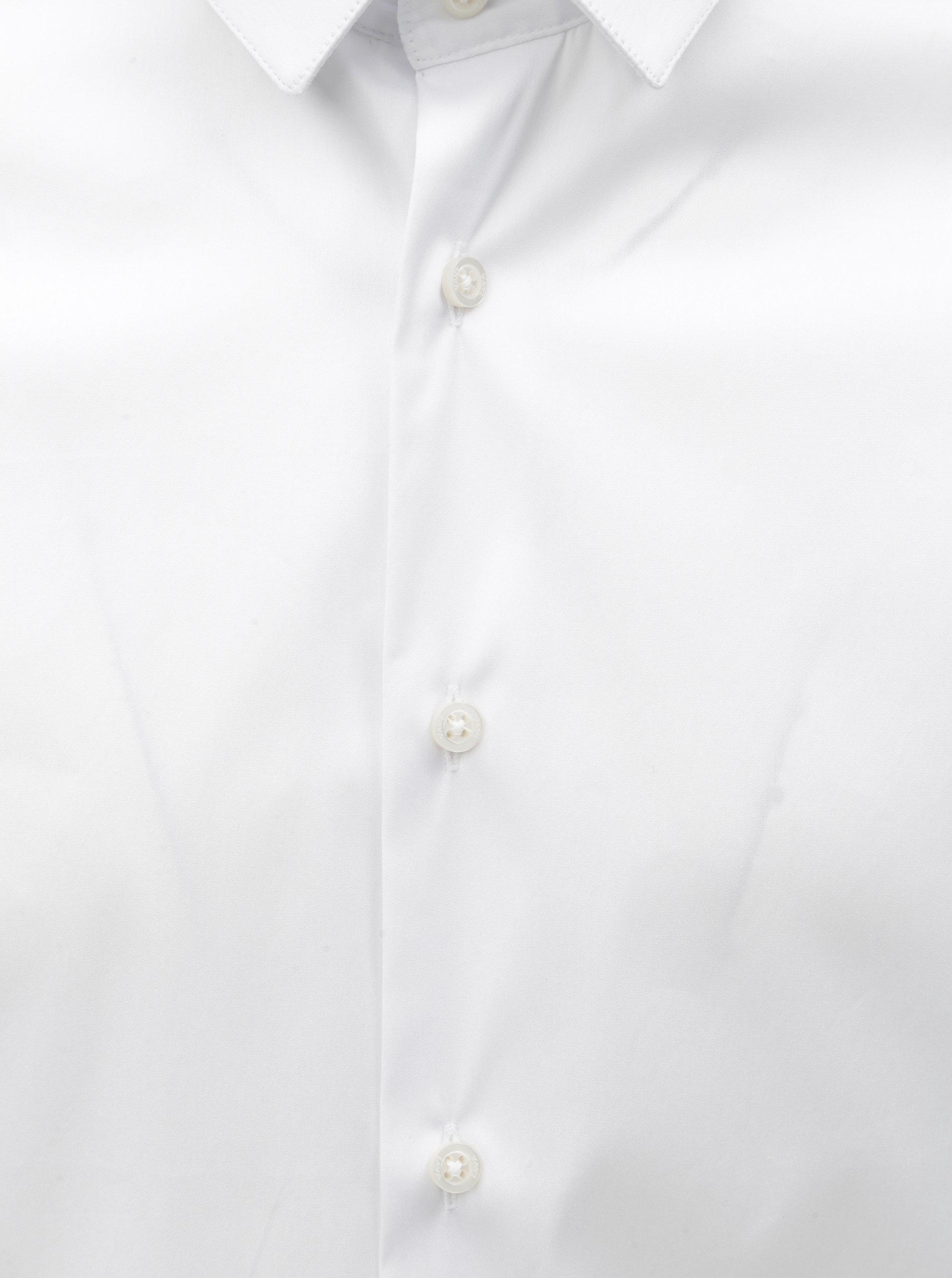 Bílá pánská košile se vzorovanými záplatami na loktech VAVI ... 225b0a16f4