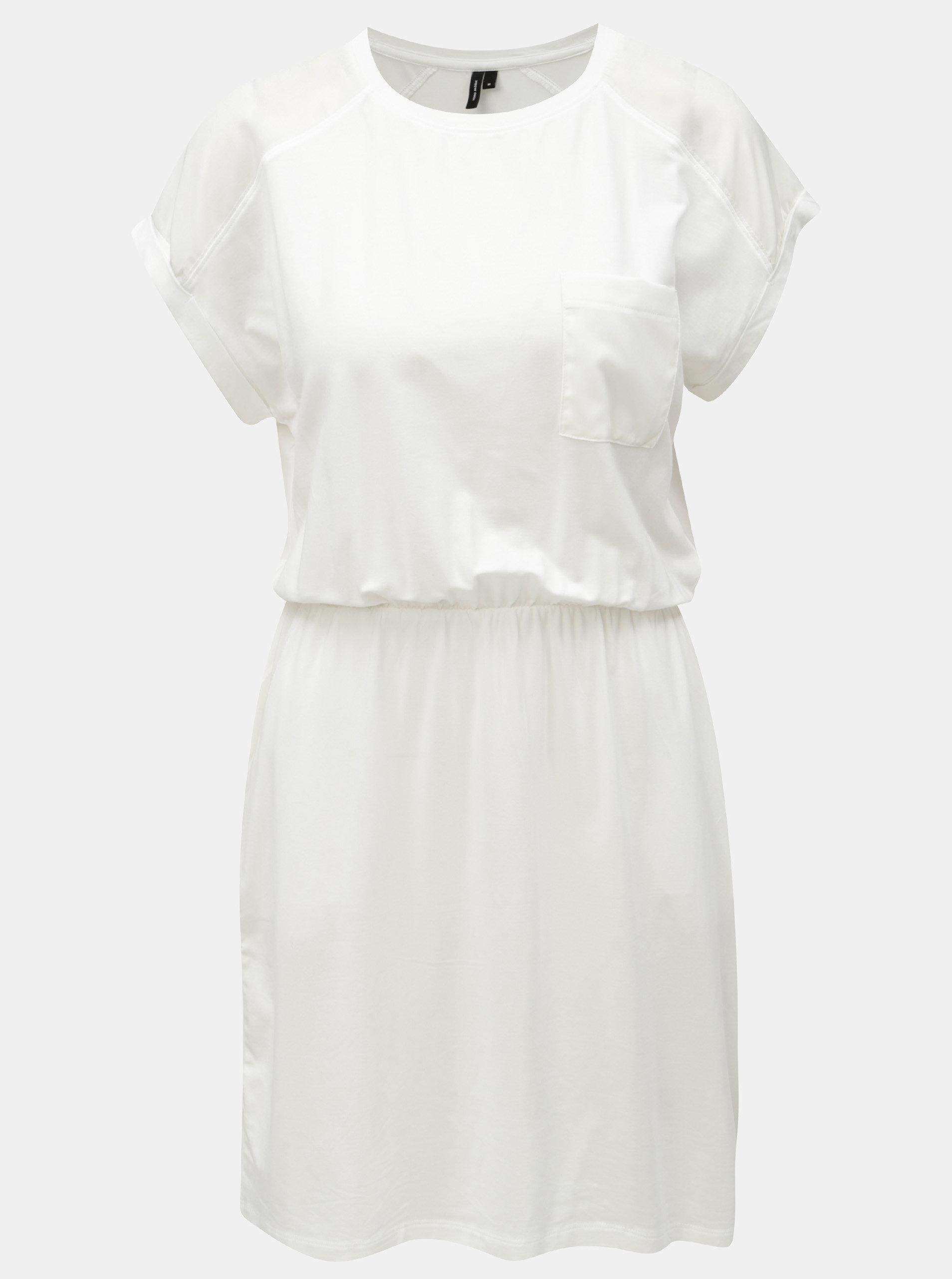 8f3608b4864f Biele šaty s vreckami VERO MODA Ava ...