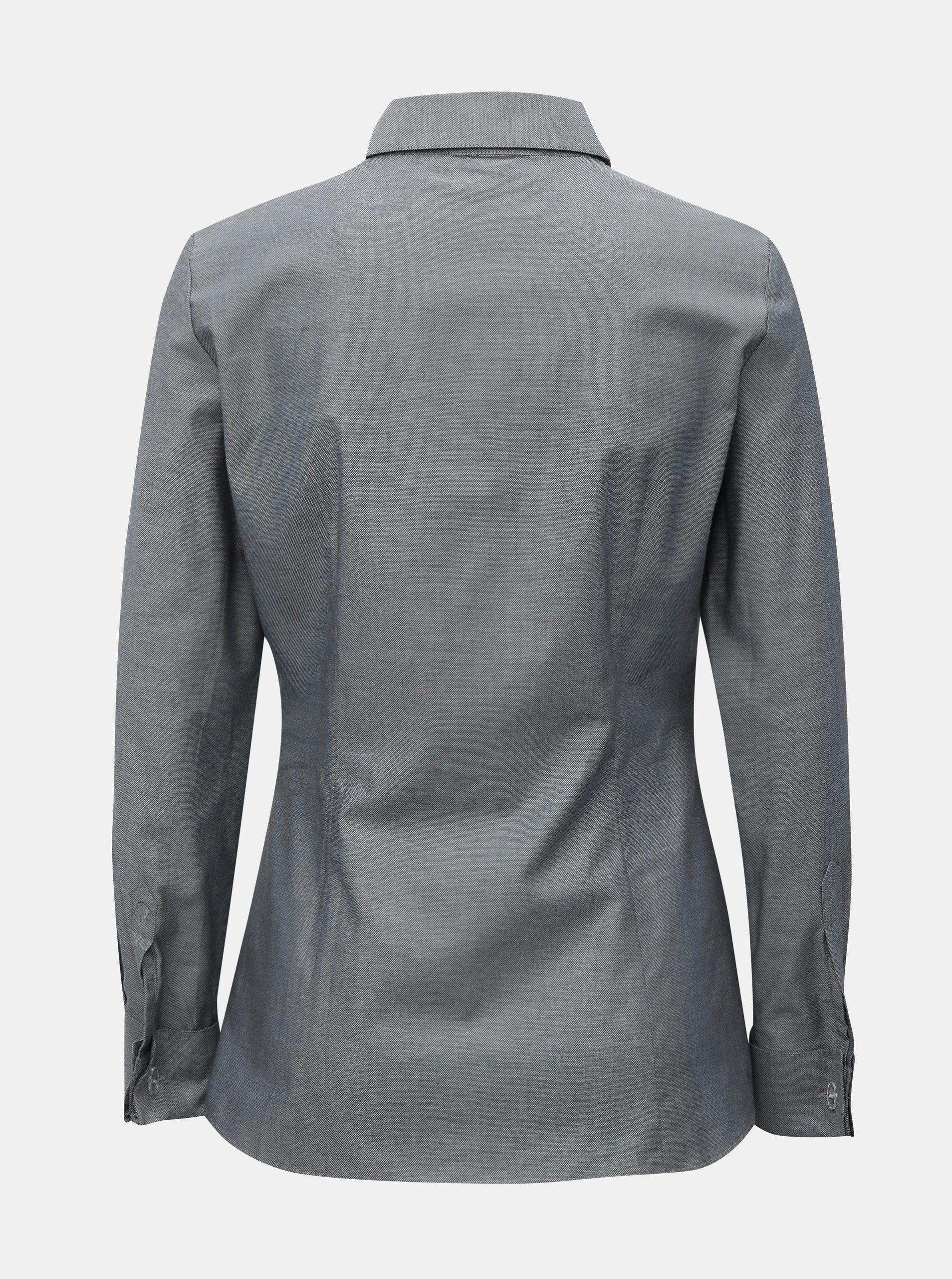 ba6cb95975c Šedá dámská košile s manžetovými knoflíky VAVI ...