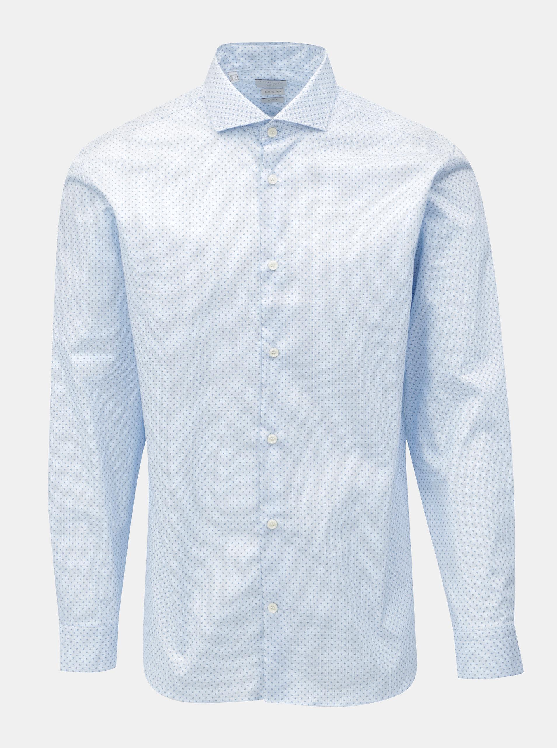 e973b6e900a Světle modrá vzorovaná slim fit košile Selected Homme One Sel-Asher