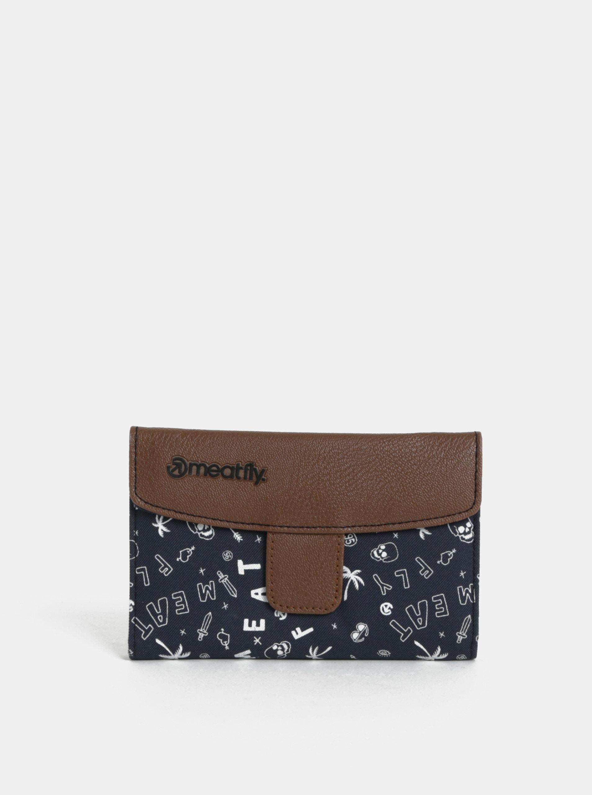 Hnědo-modrá dámská peněženka Meatfly