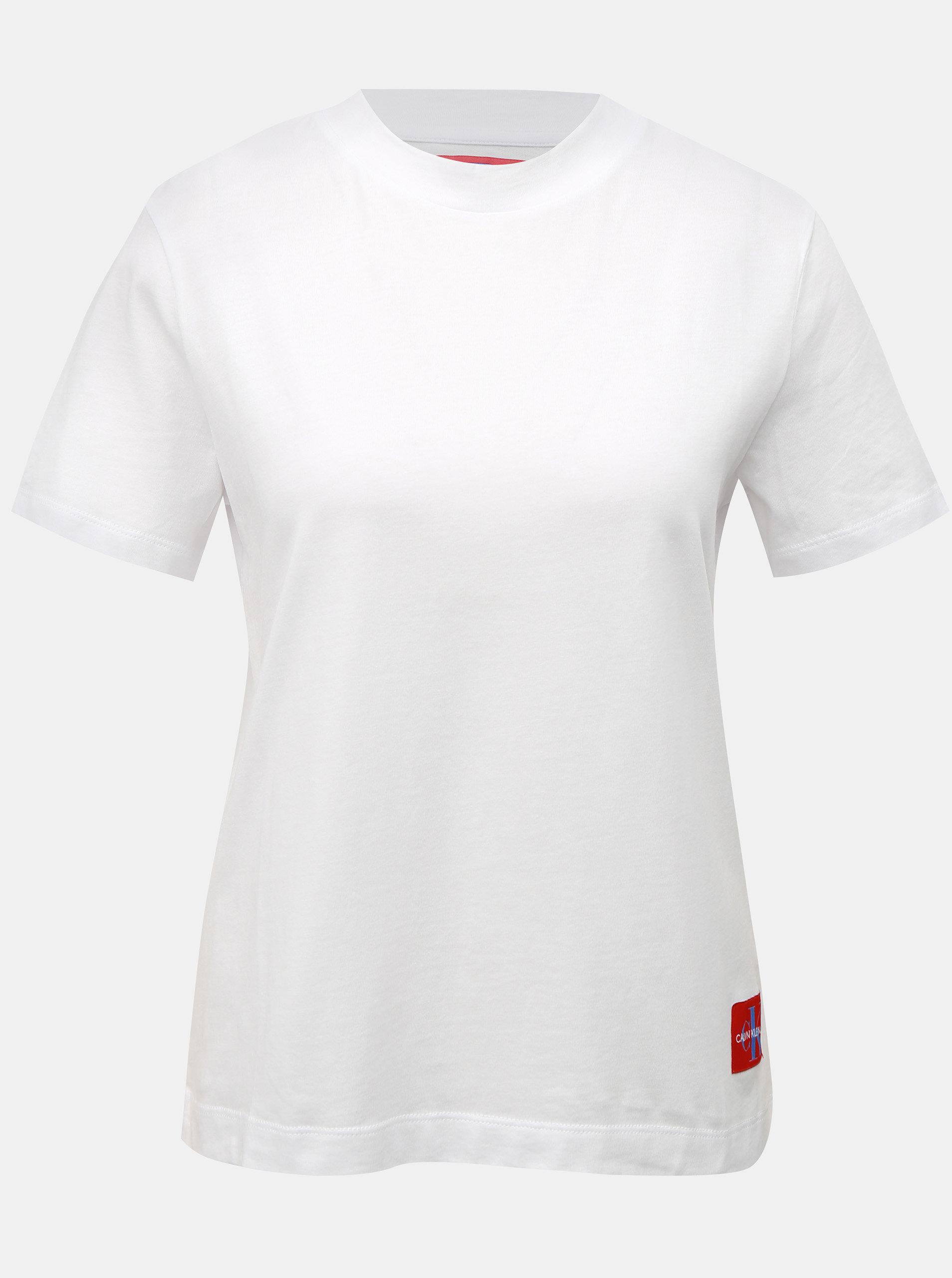Bílé dámské tričko s nášivkou Calvin Klein Jeans ... eb8d5fbebf
