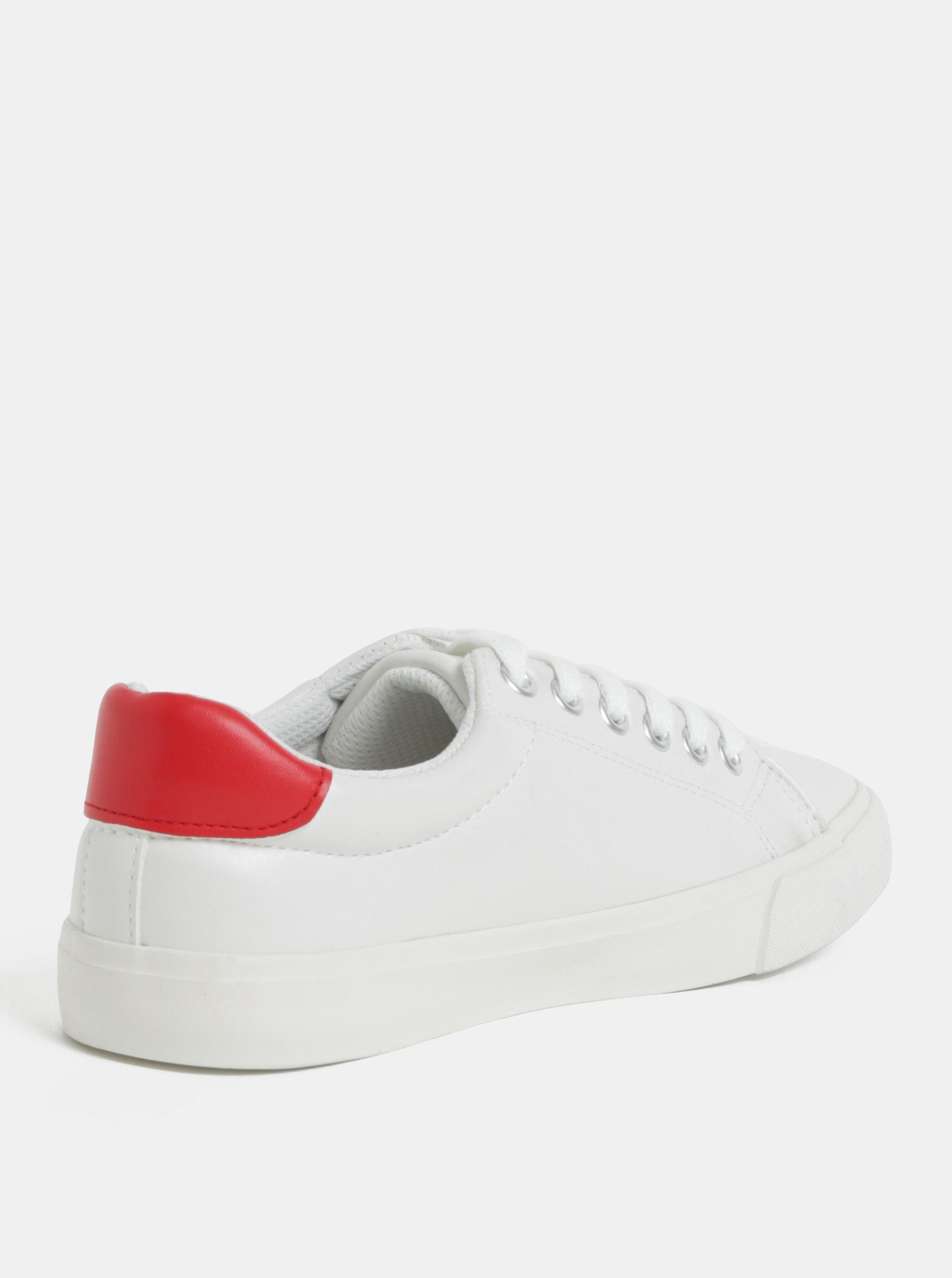 b5222ac54840 Červeno-biele tenisky Dorothy Perkins ...