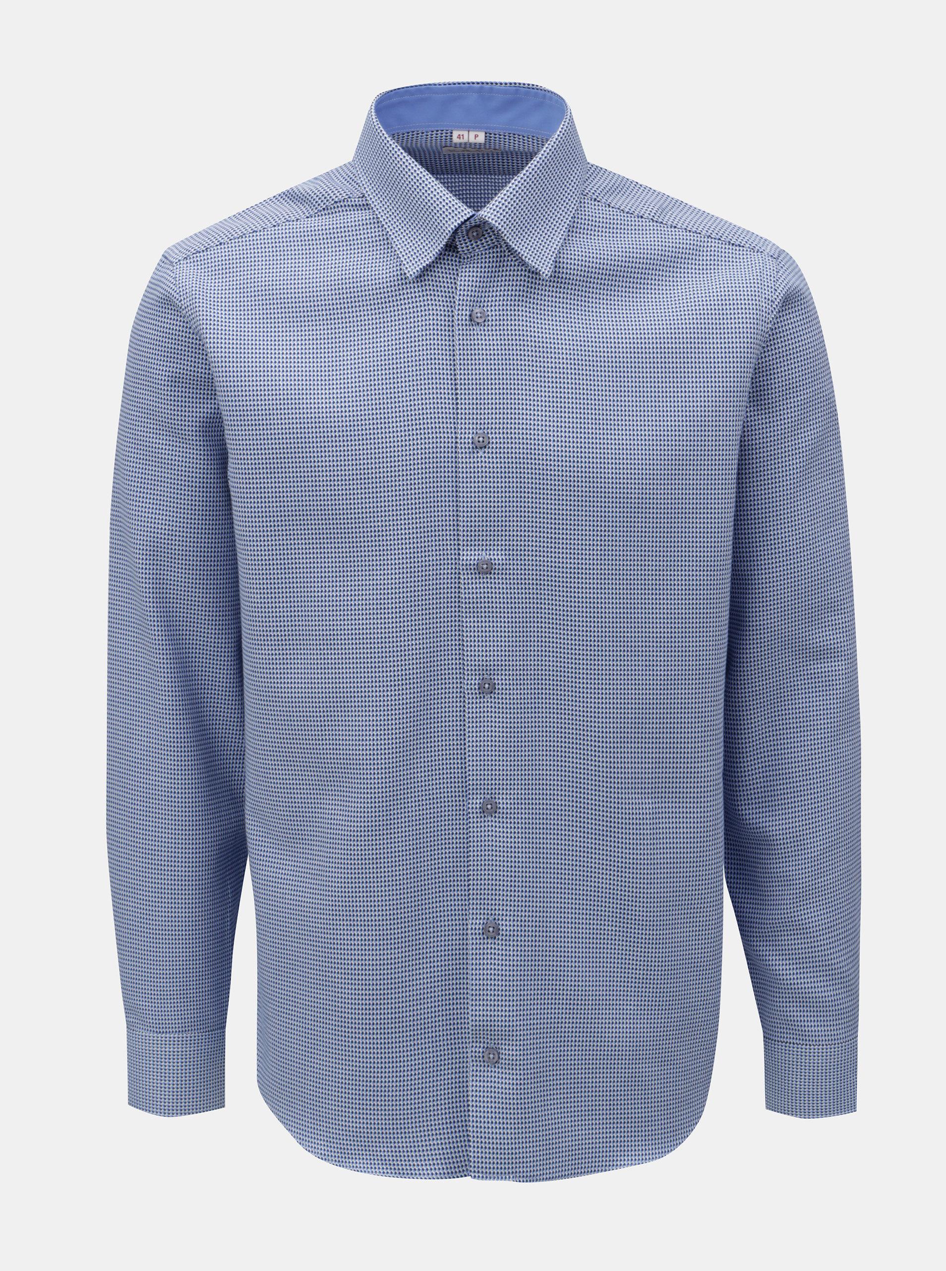 9d0c53be3 Modrá pánska vzorovaná košeľa s dlhým rukávom VAVI | ZOOT.sk