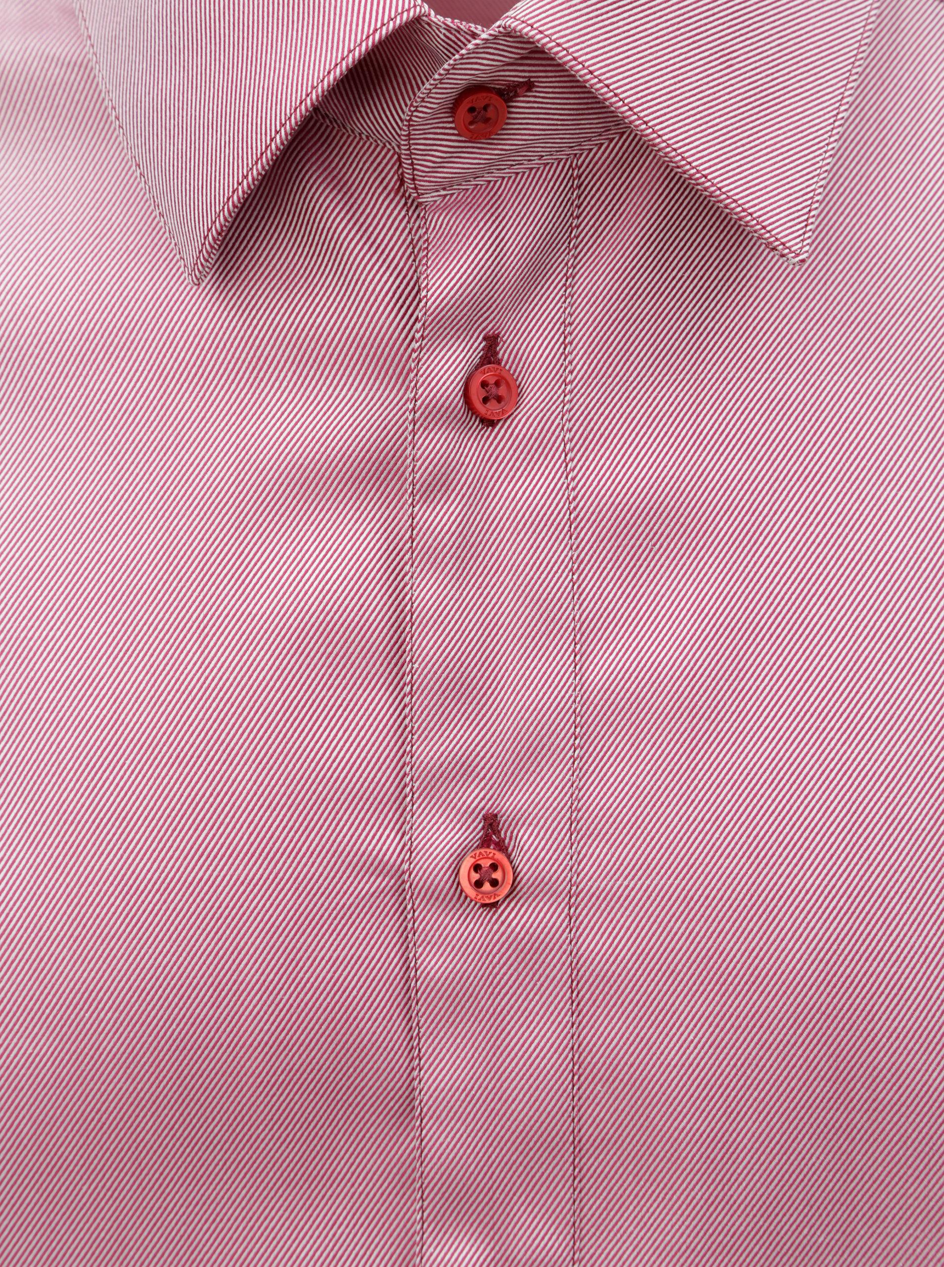 9bdef34f1401 Ružová pánska pruhovaná košeľa s dlhým rukávom VAVI ...