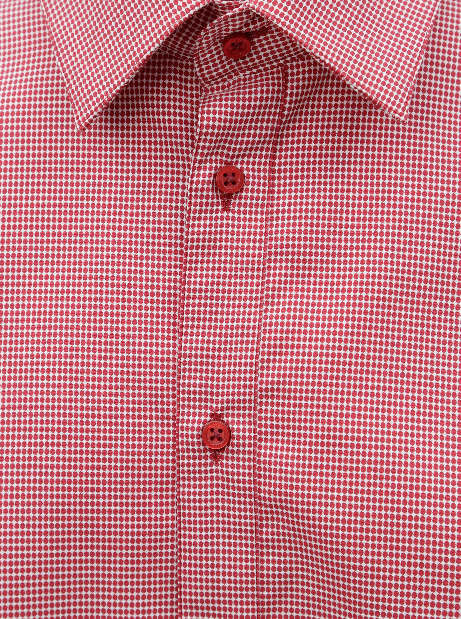 ae105d4477c Červená pánská vzorovaná košile s dlouhým rukávem VAVI ...