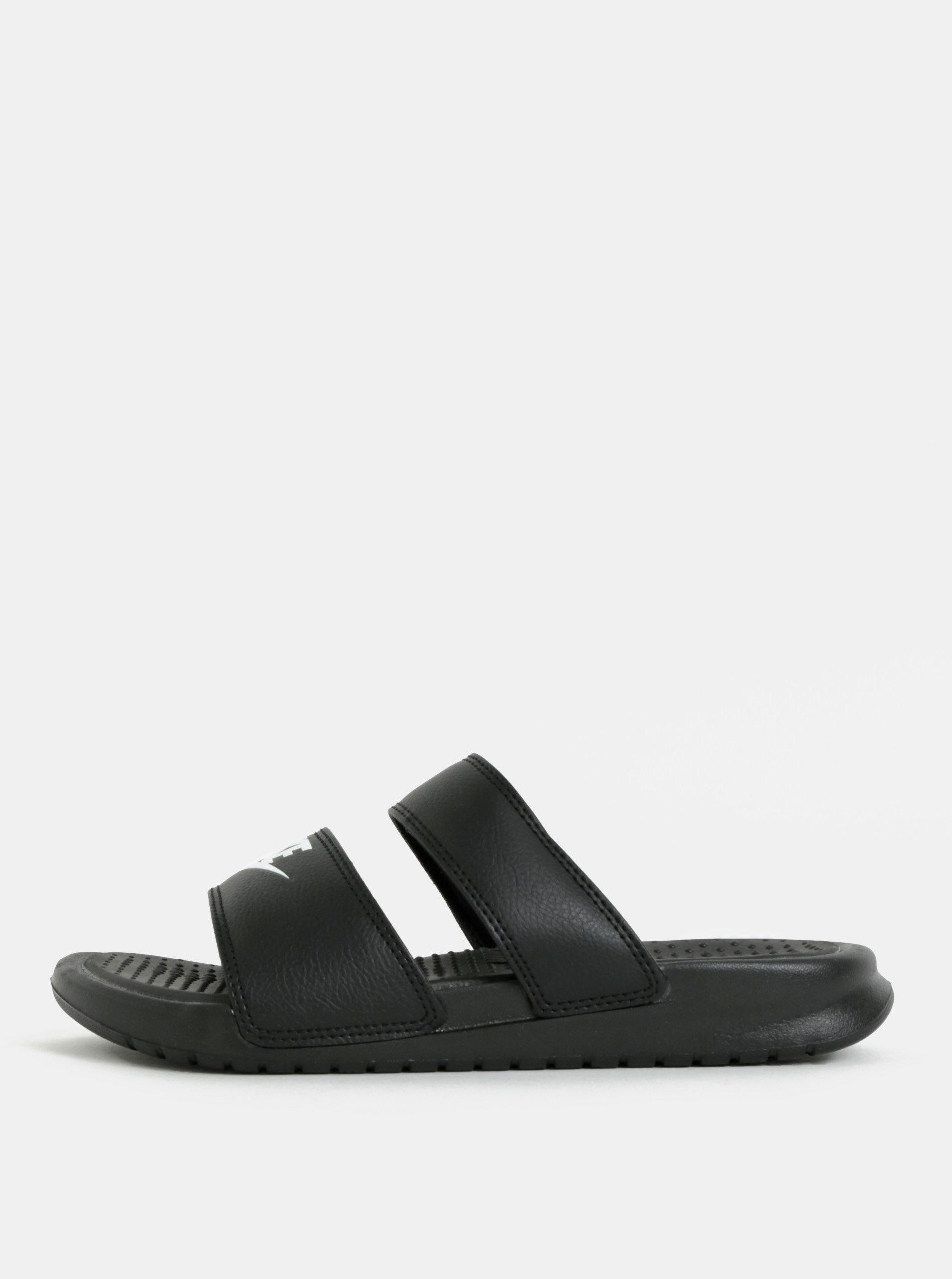 Černé dámské pantofle Nike Benassi Duo Ultra Slide