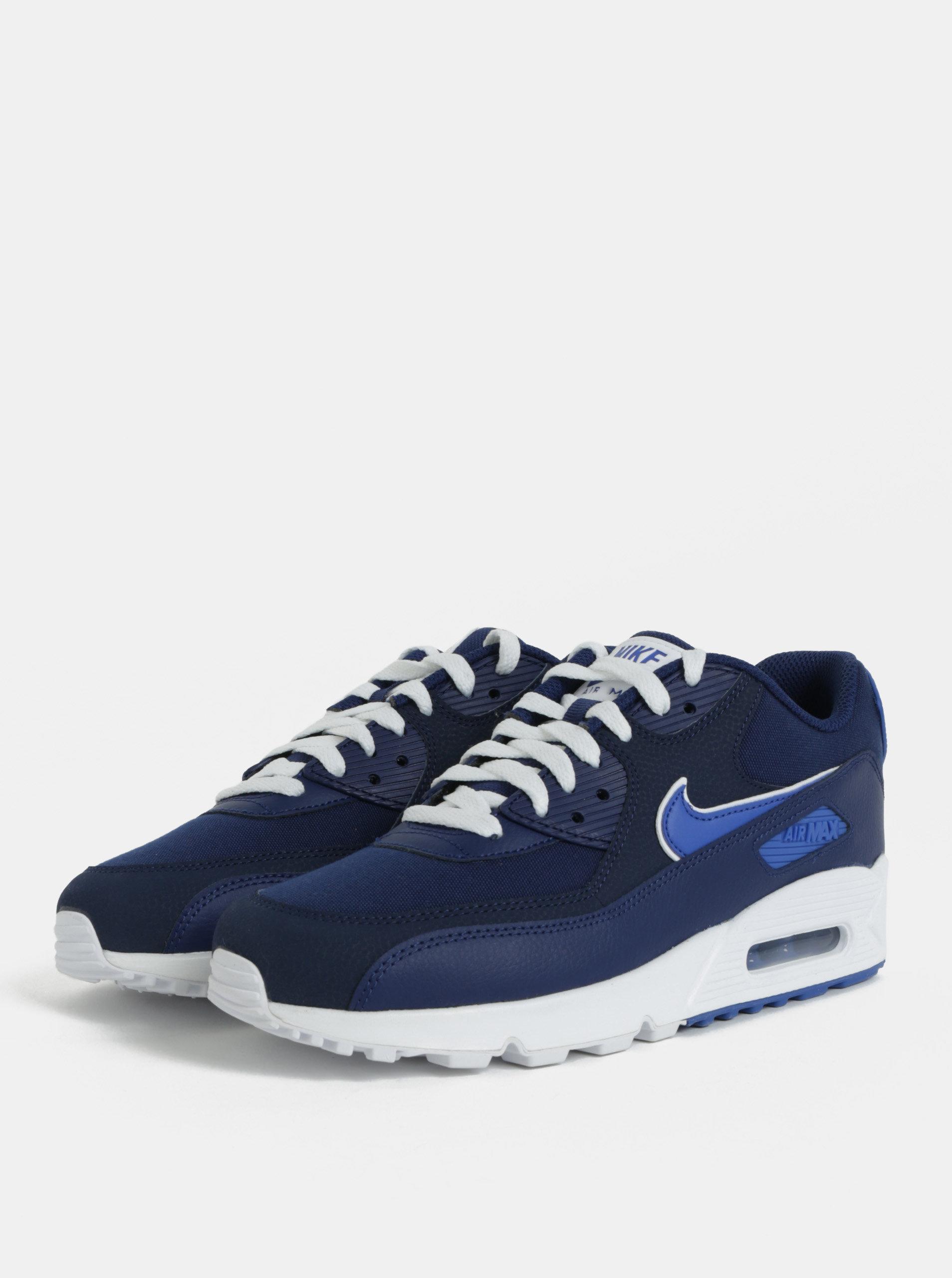 Modré pánské kožené tenisky Nike Air Max  90 Essential ... f7efadb4c61