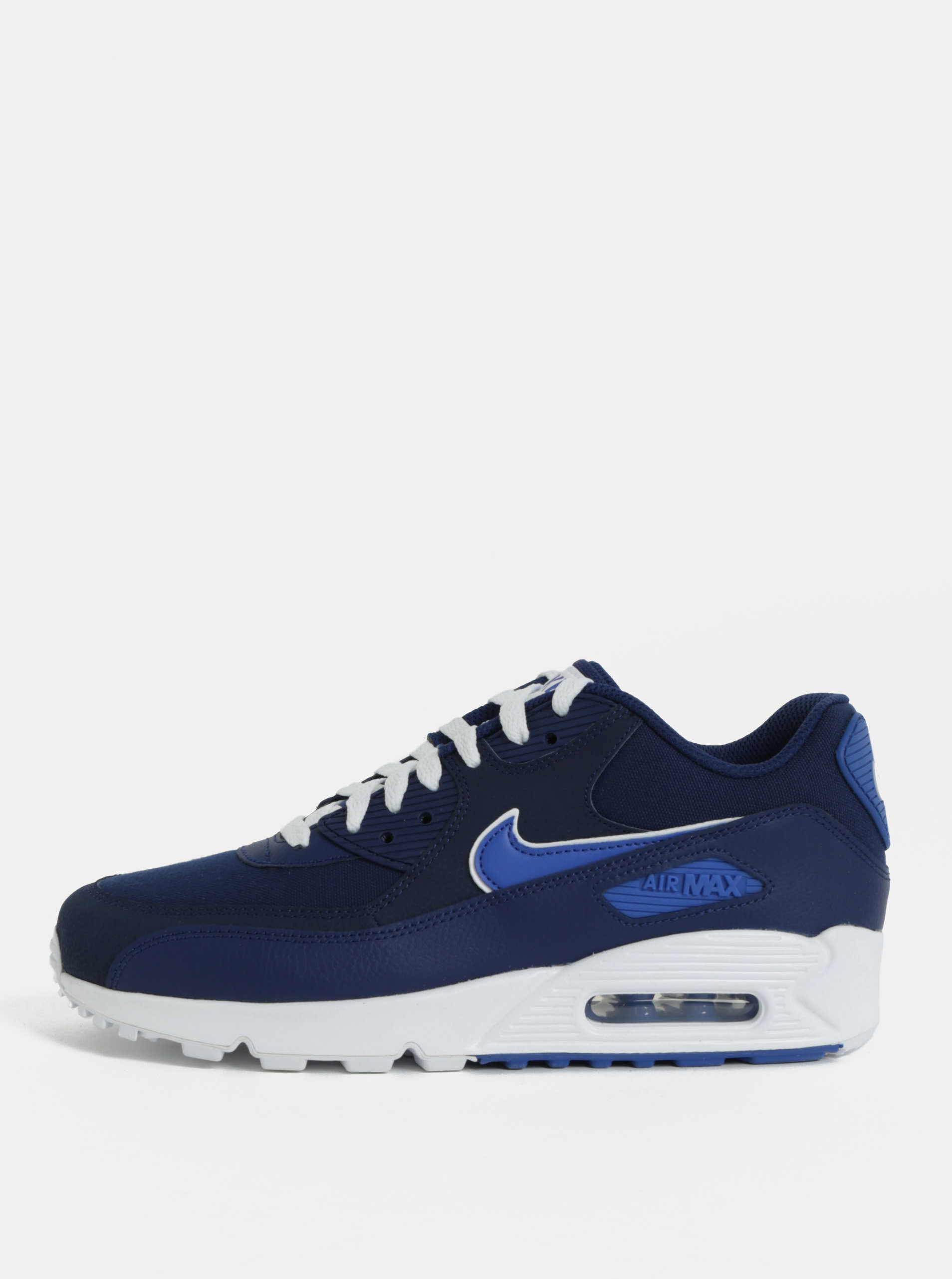 Modré pánske kožené tenisky Nike Air Max  90 Essential ... 42b925506a