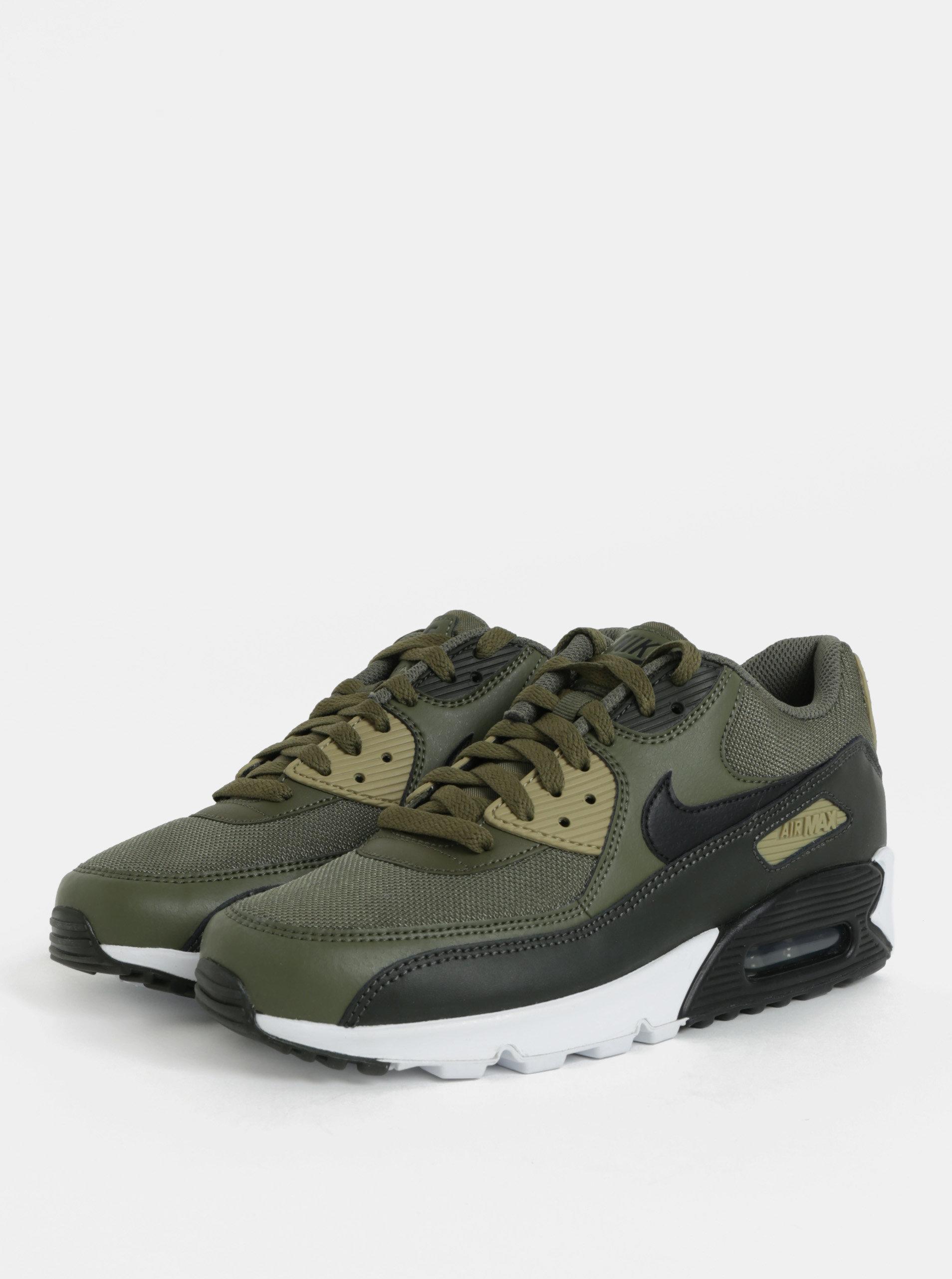 Kaki pánske kožené tenisky Nike Air Max  90 Essential ... 22b01da5eb