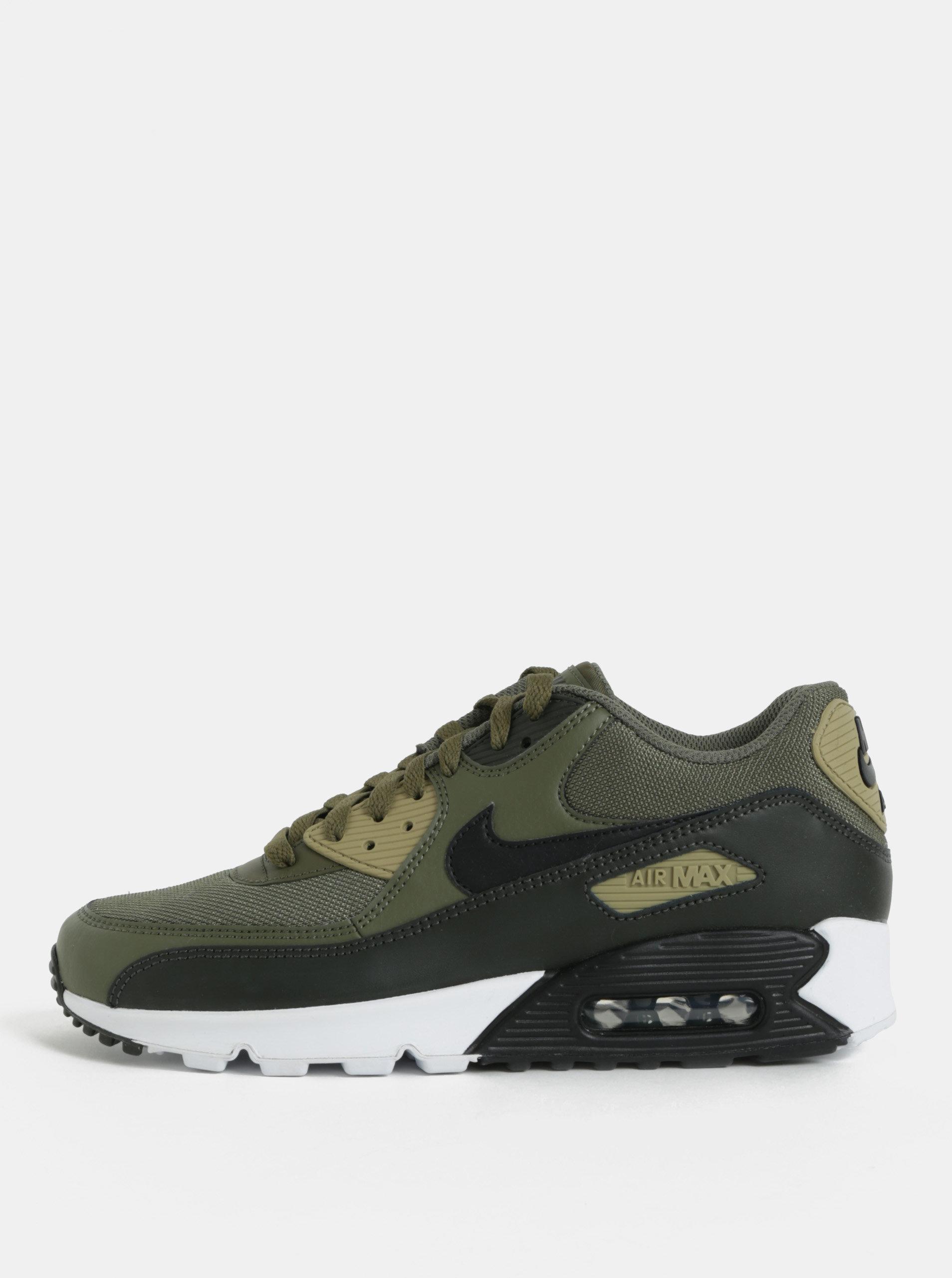 1ab10c1f1bd Khaki pánské kožené tenisky Nike Air Max  90 Essential ...