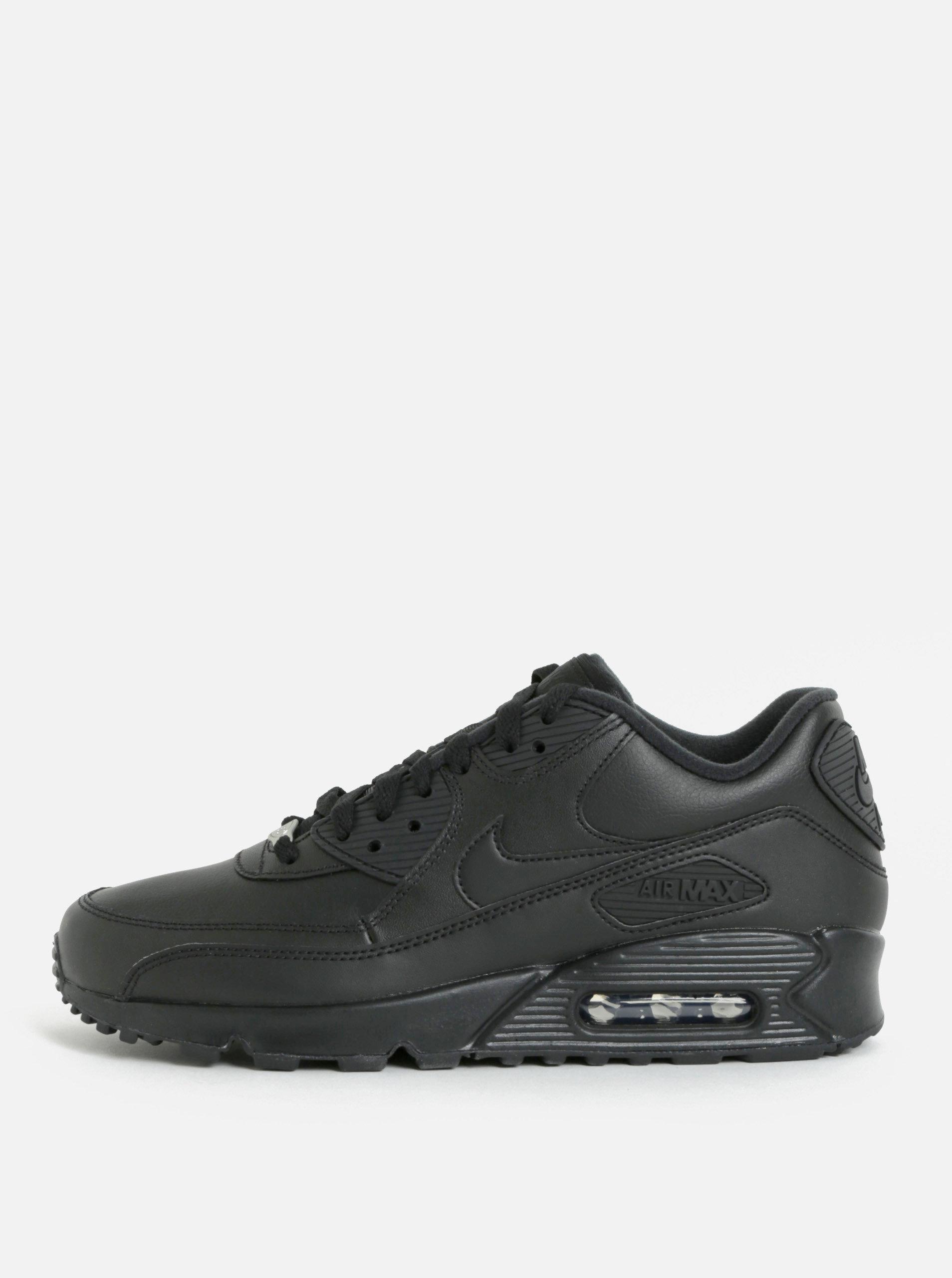 Čierne pánske kožené tenisky Nike Air Max  90 Leather ... 98d672b859b