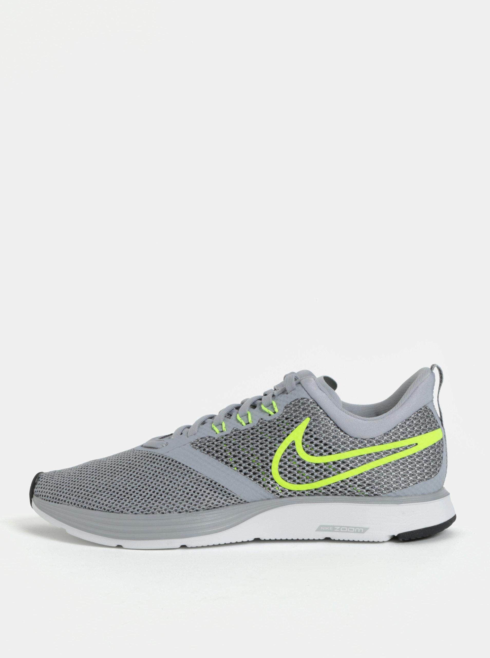 Sivé pánske tenisky Nike Zoom Strike Running ... d2eb799b3e5