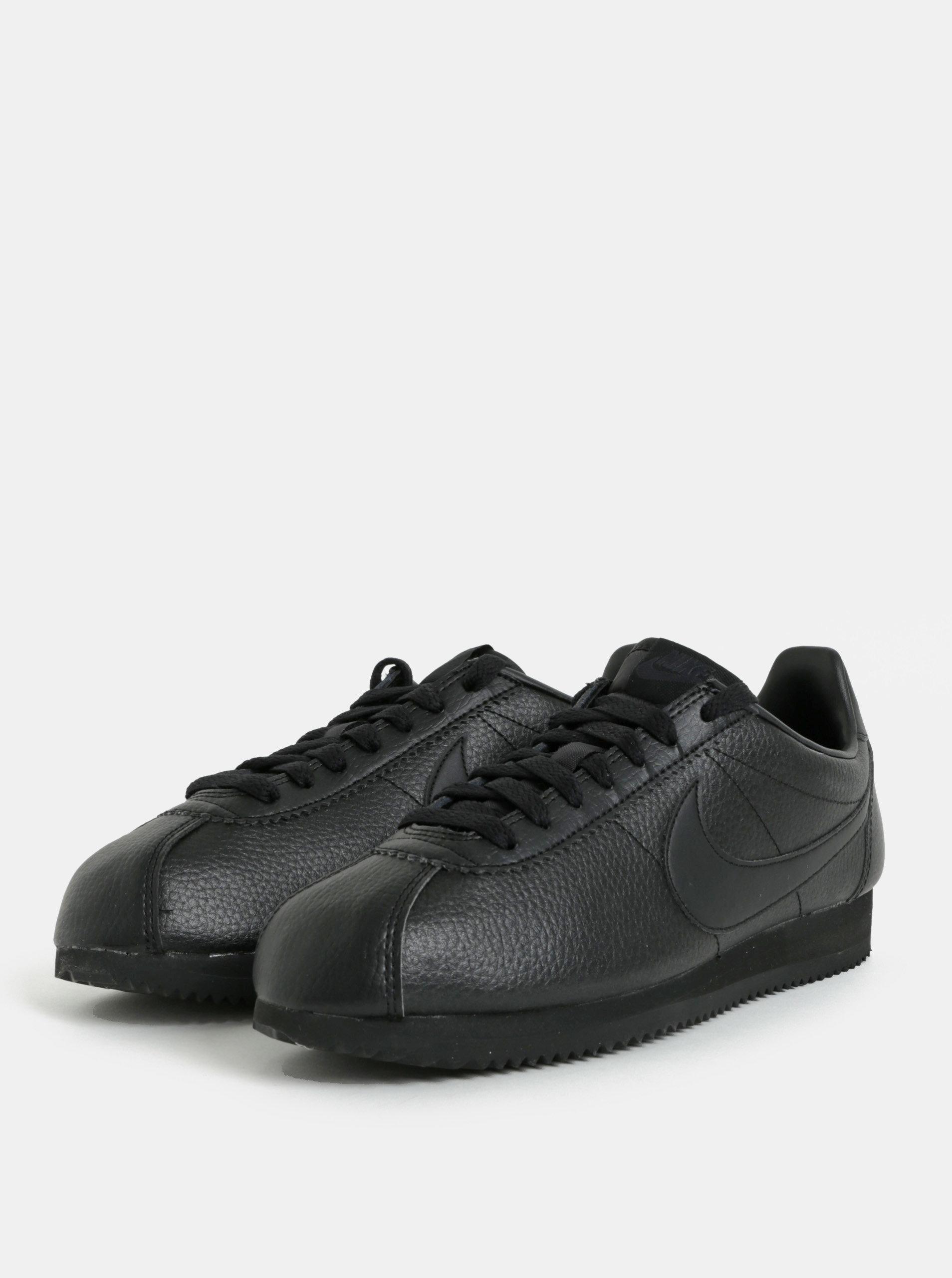 Čierne pánske kožené tenisky Nike Classic Leather ... e7460fe650f