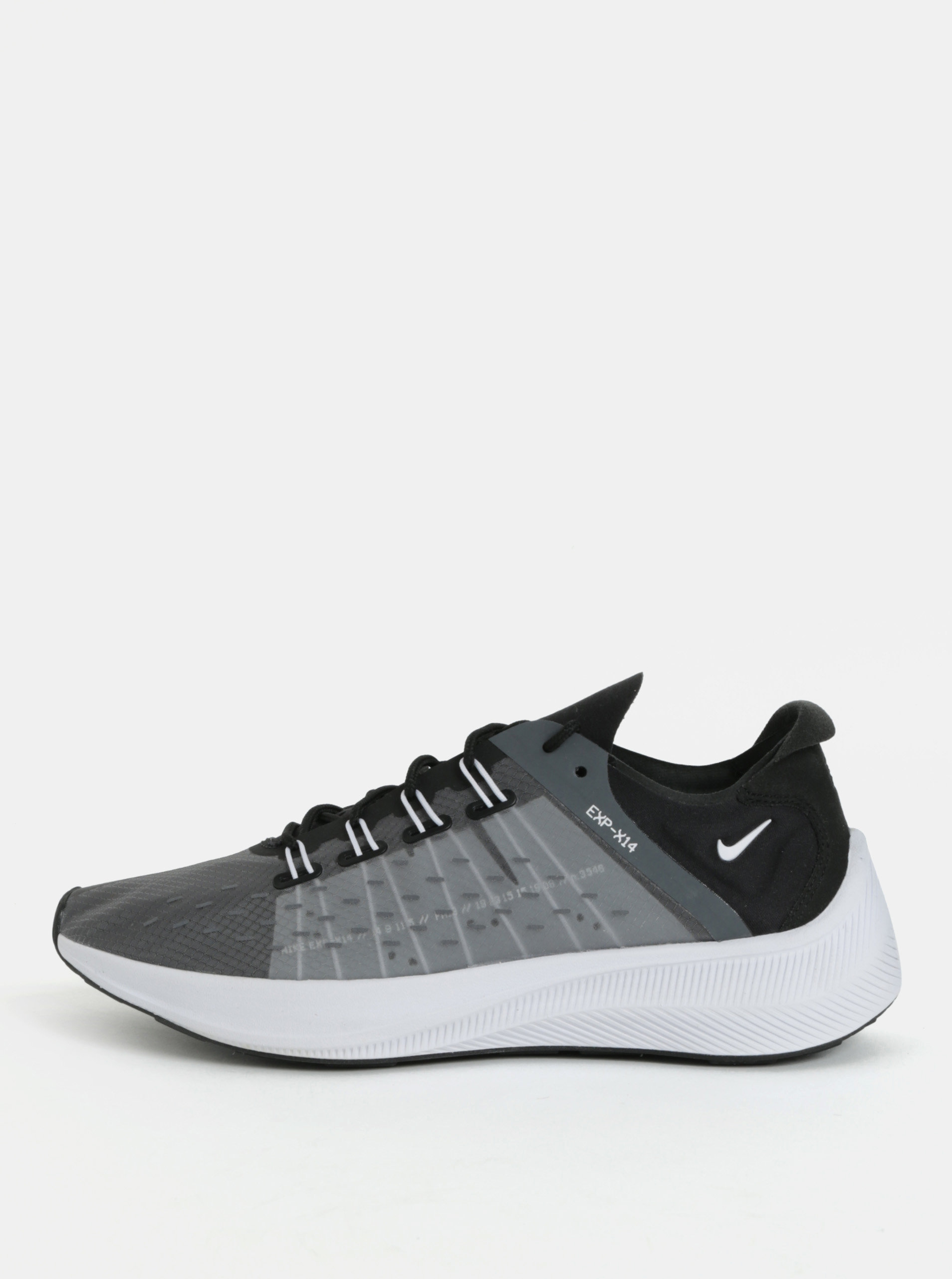 be8951212a Sivo-čierne dámske tenisky Nike EXP - X 14 ...