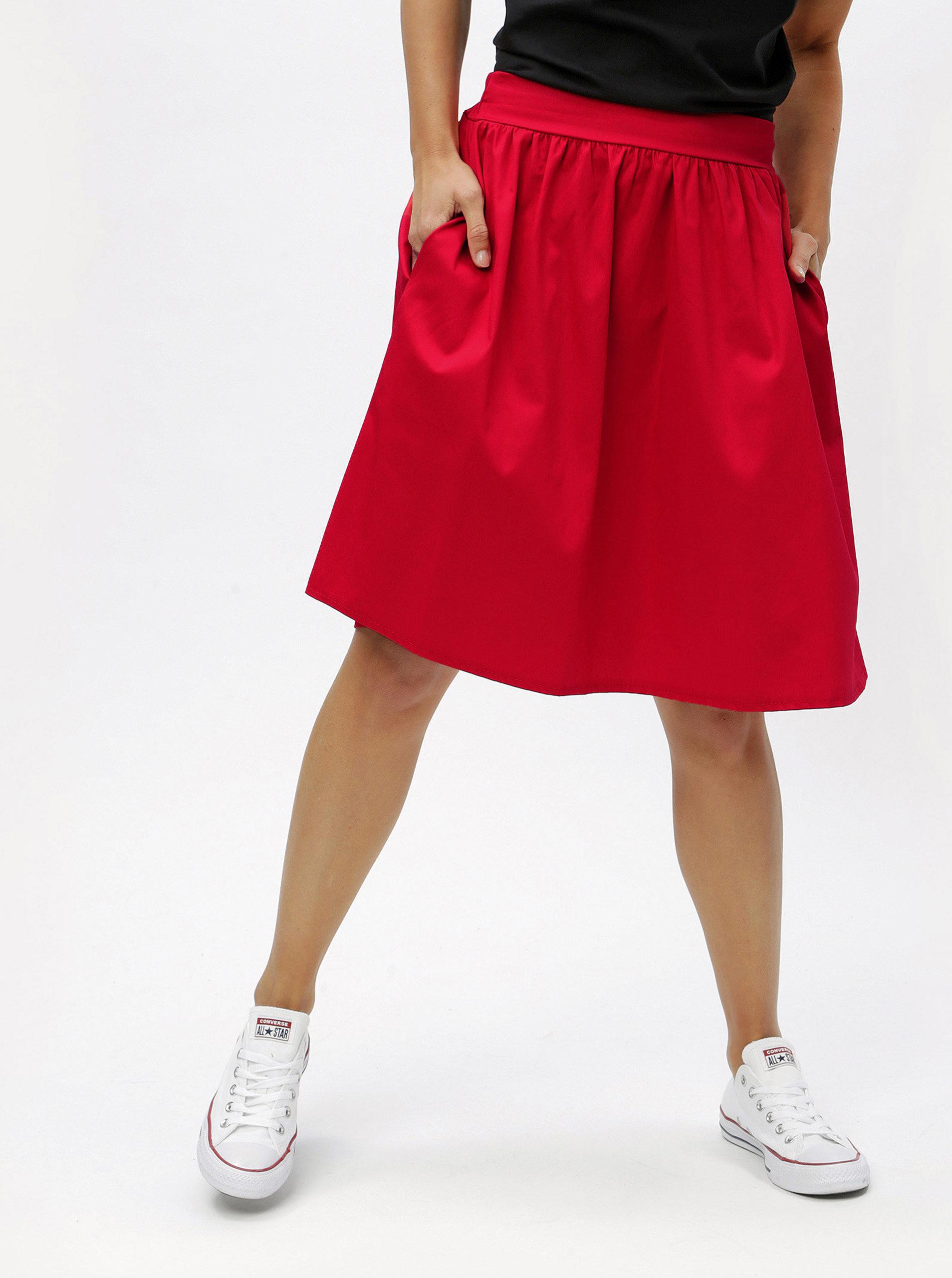 Červená sukně s kapsami ZOOT ... 534d457c0e
