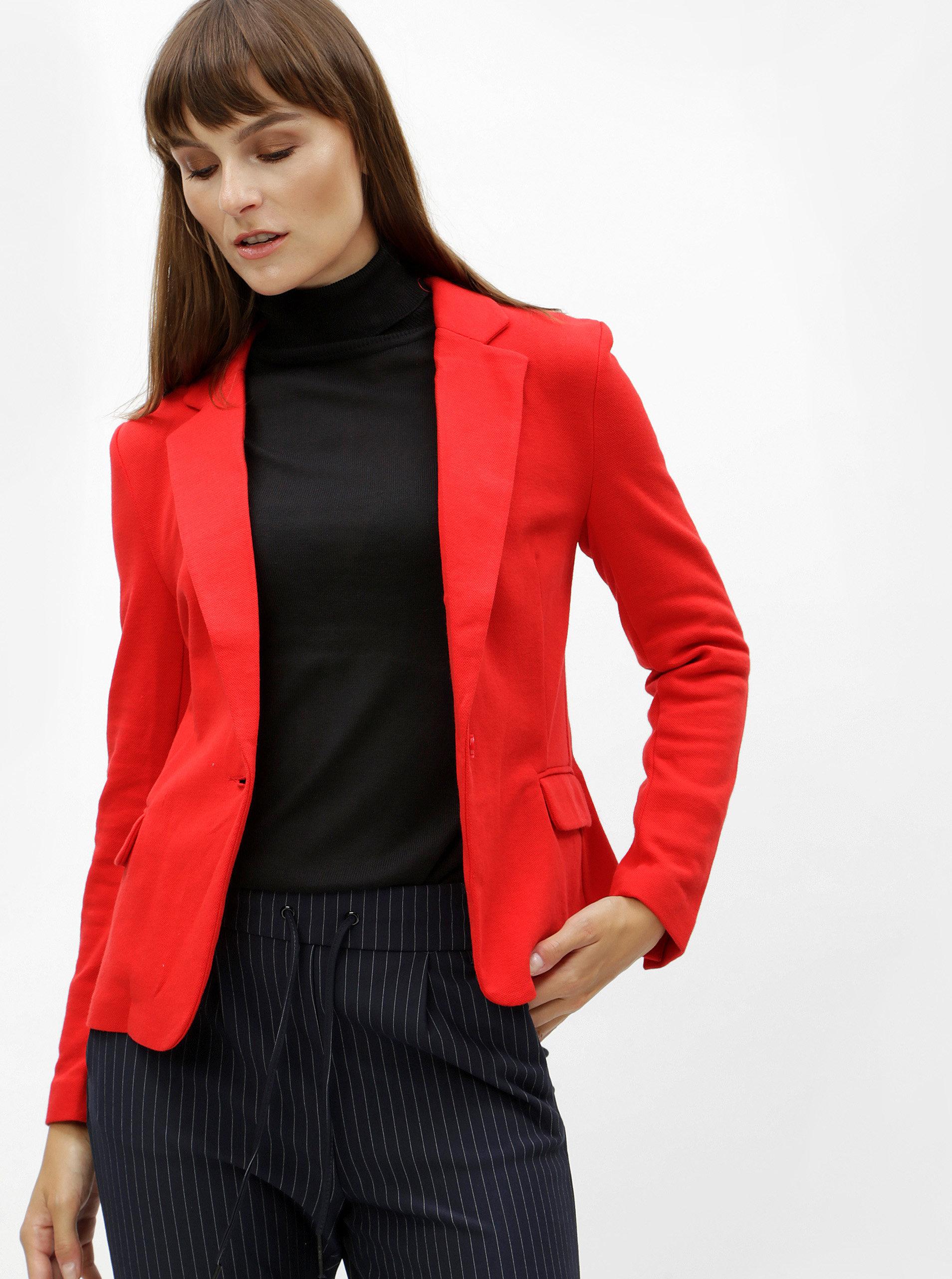 Červené sako VERO MODA Julia