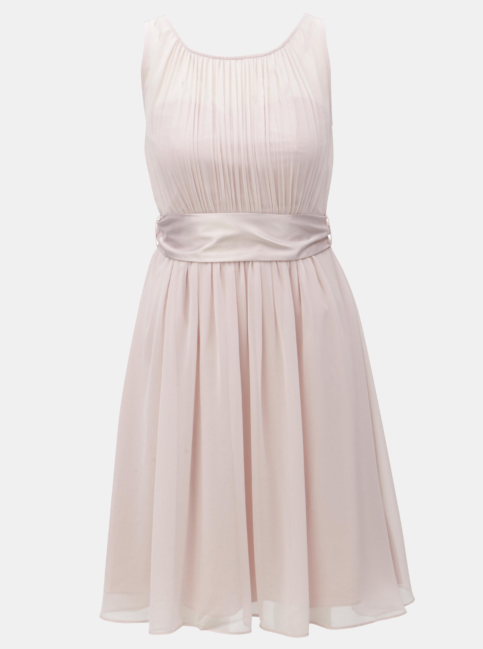 Světle růžové šaty se stuhou na zavazování Dorothy Perkins ... f5e8efc0a9