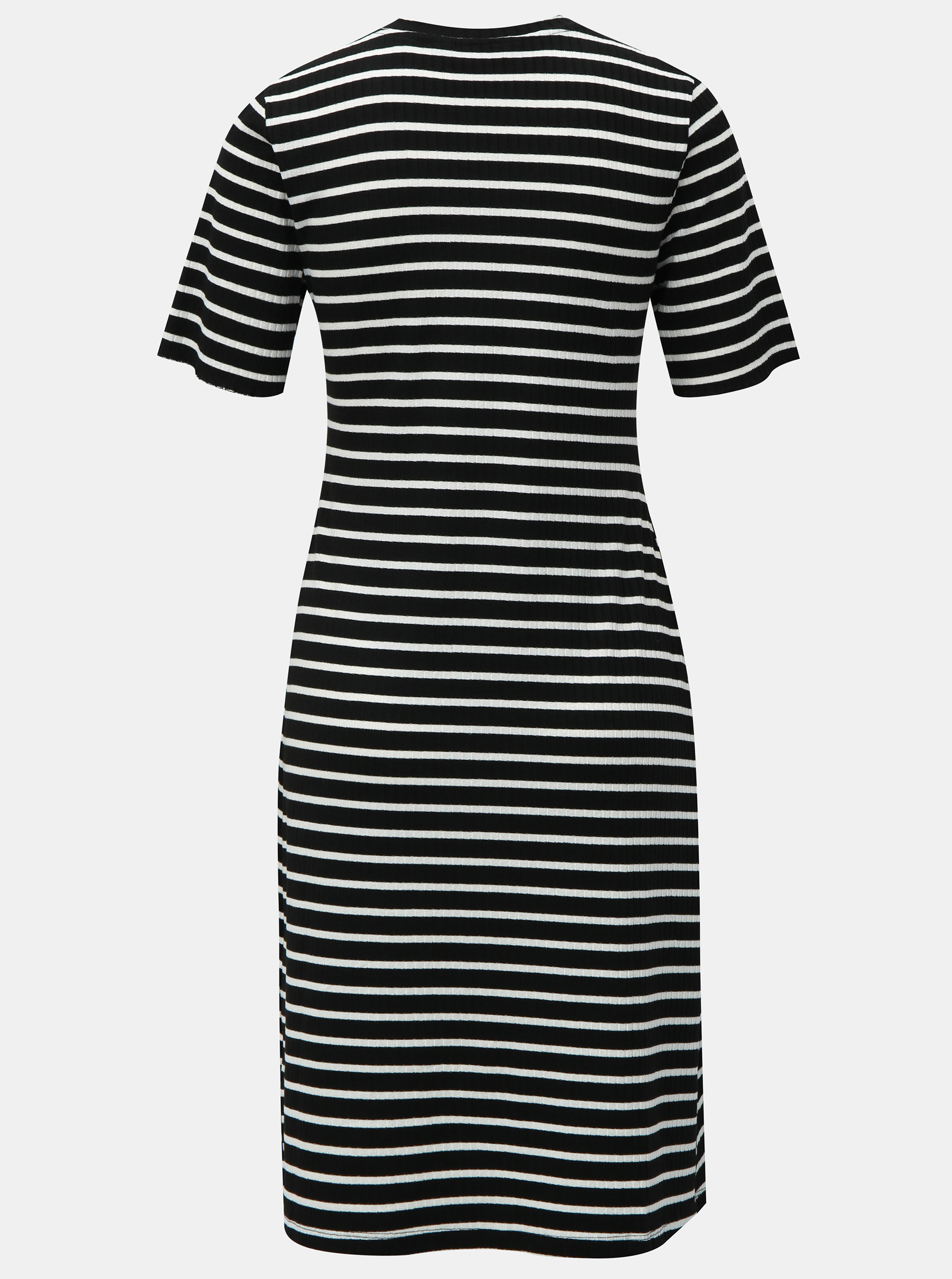 1152bc5ba7ae Bielo-čierne pruhované šaty s krátkym rukávom Dorothy Perkins Tall ...