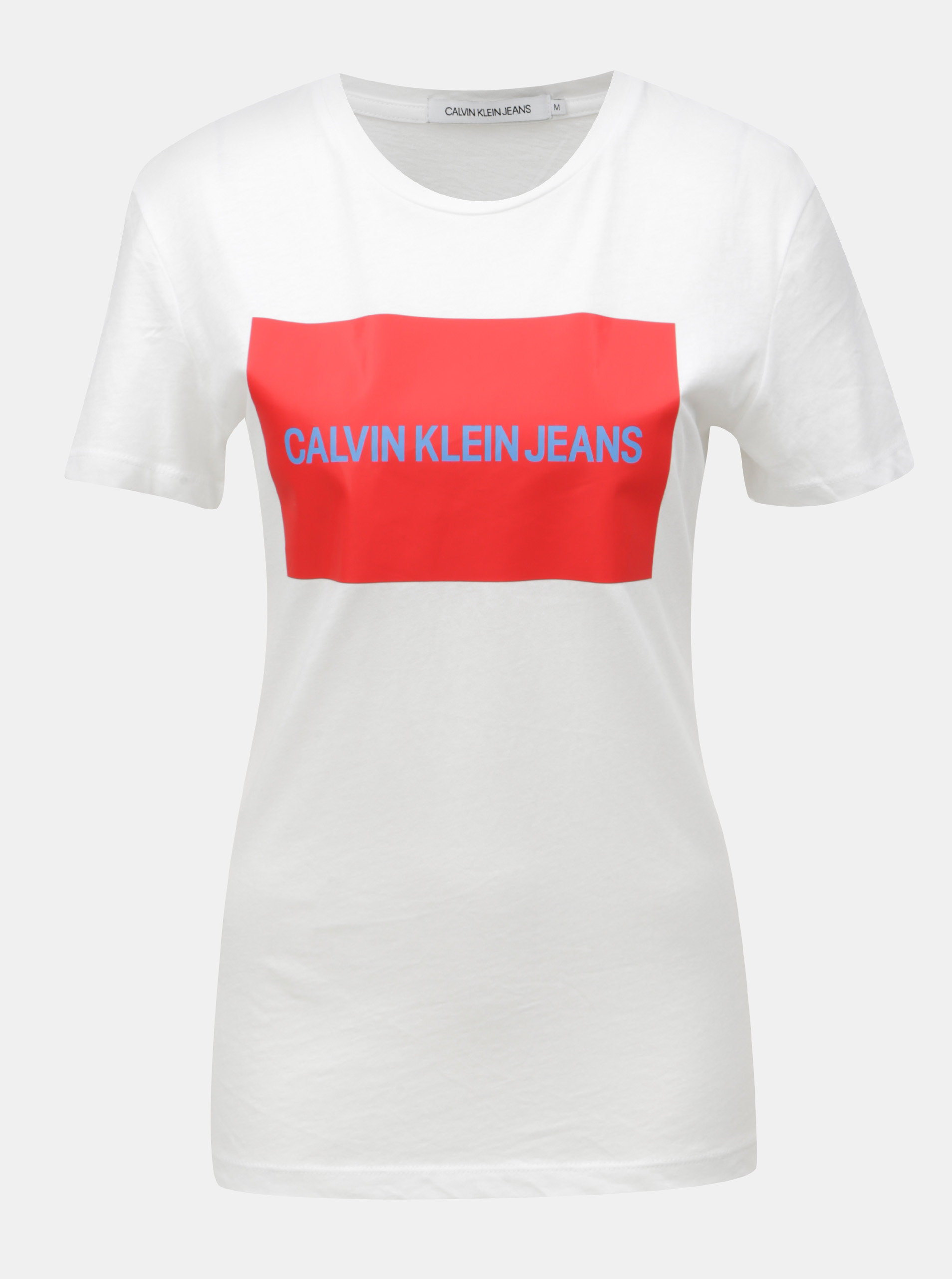 Biele dámske tričko s potlačou Calvin Klein Jeans ... 0e5faef56b1