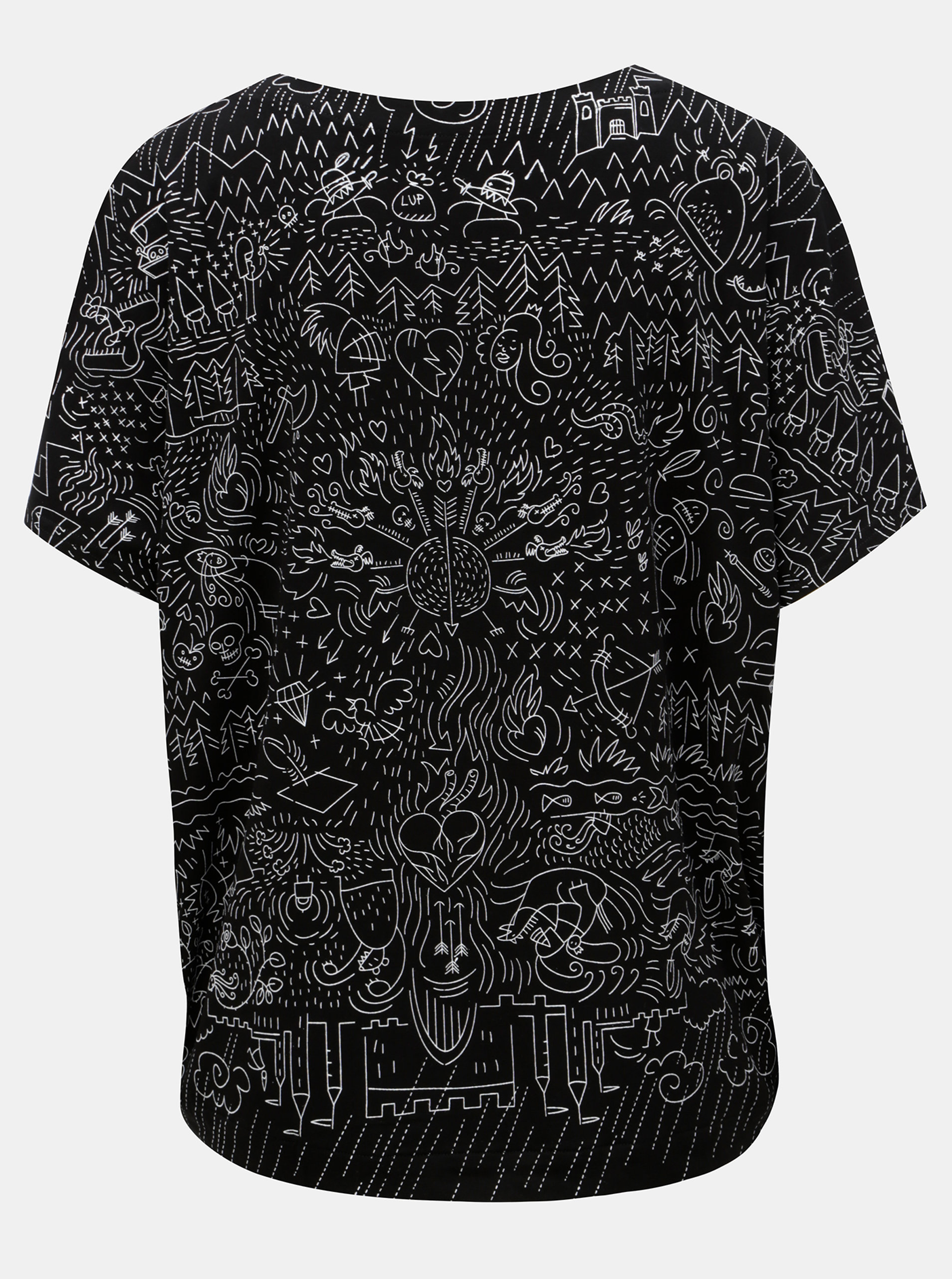 4b18304f9 Čierne oversize tričko s potlačou Mayda Pohádka | ZOOT.sk