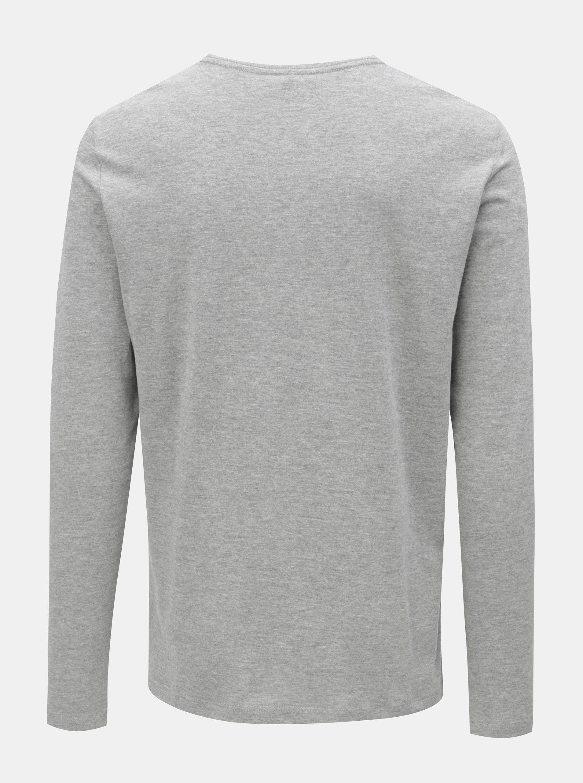 a1593f82d631 Sivé regular tričko s dlhým rukávom Blend ...