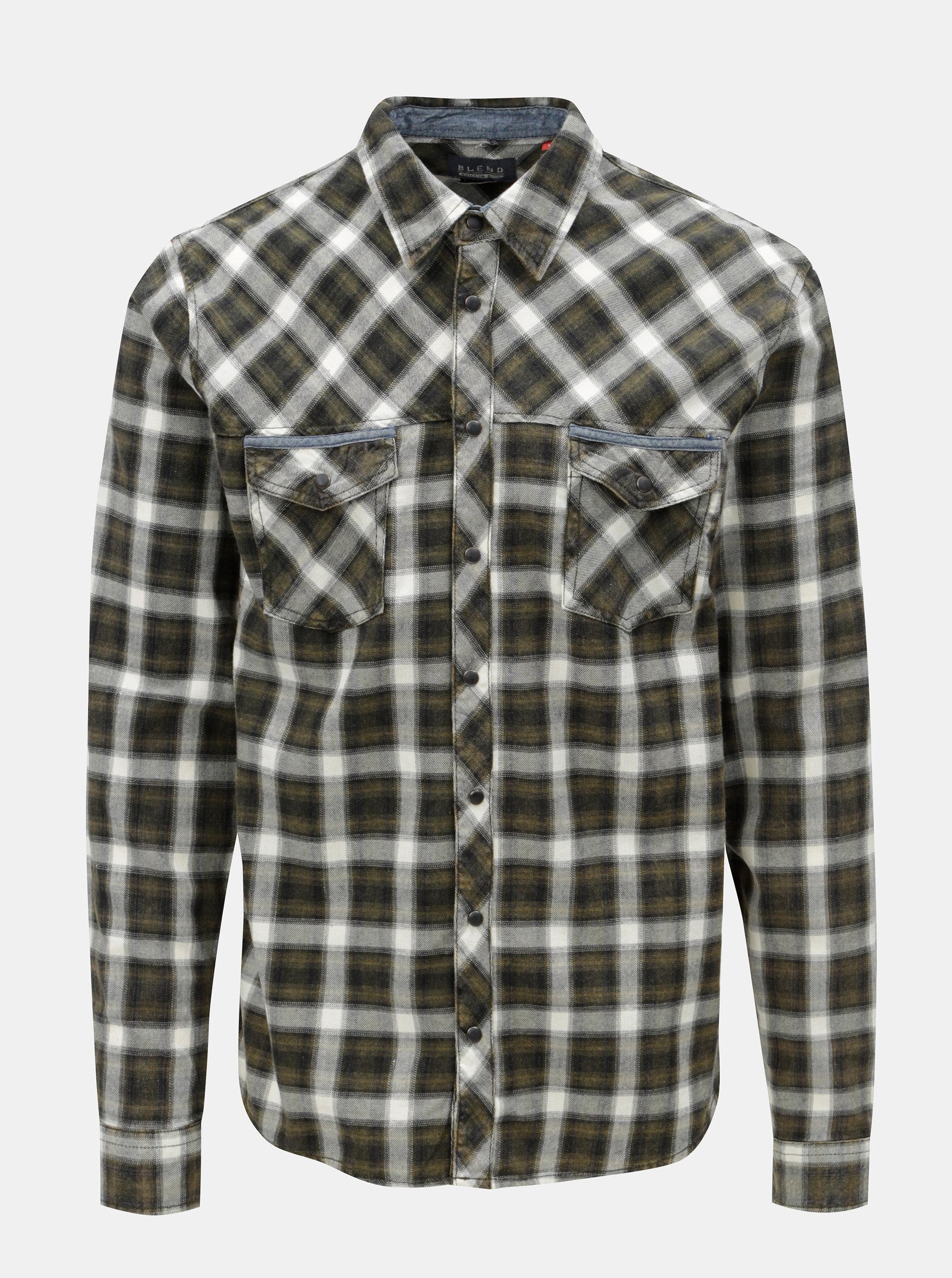 Krémovo-zelená regular košile Blend 272cf0143b