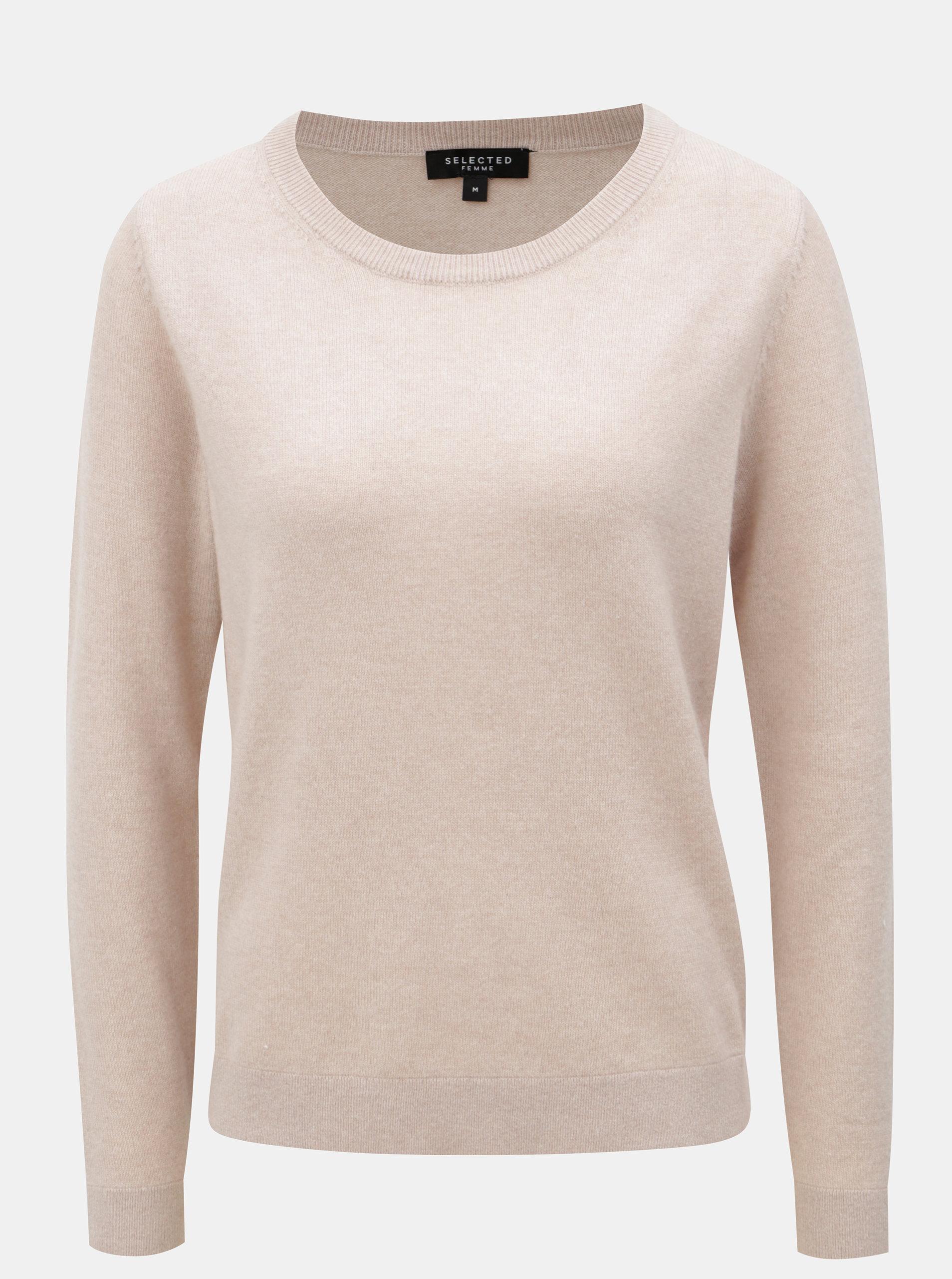 0b52f84a22ff Ružový kašmírový sveter Selected Femme Faya ...
