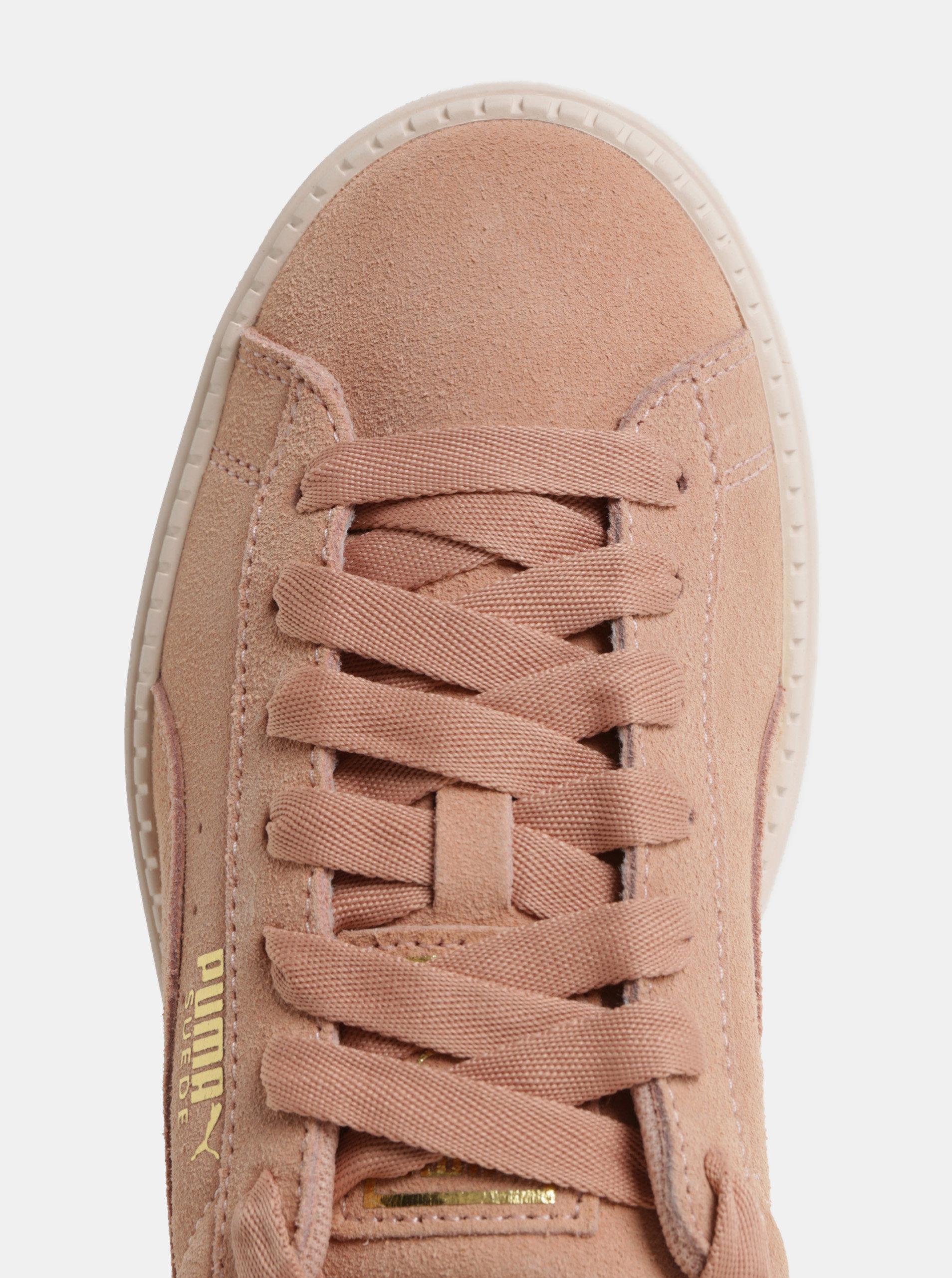 94b2b80c284b Růžové dámské semišové tenisky na platformě Puma Platform Trace ...