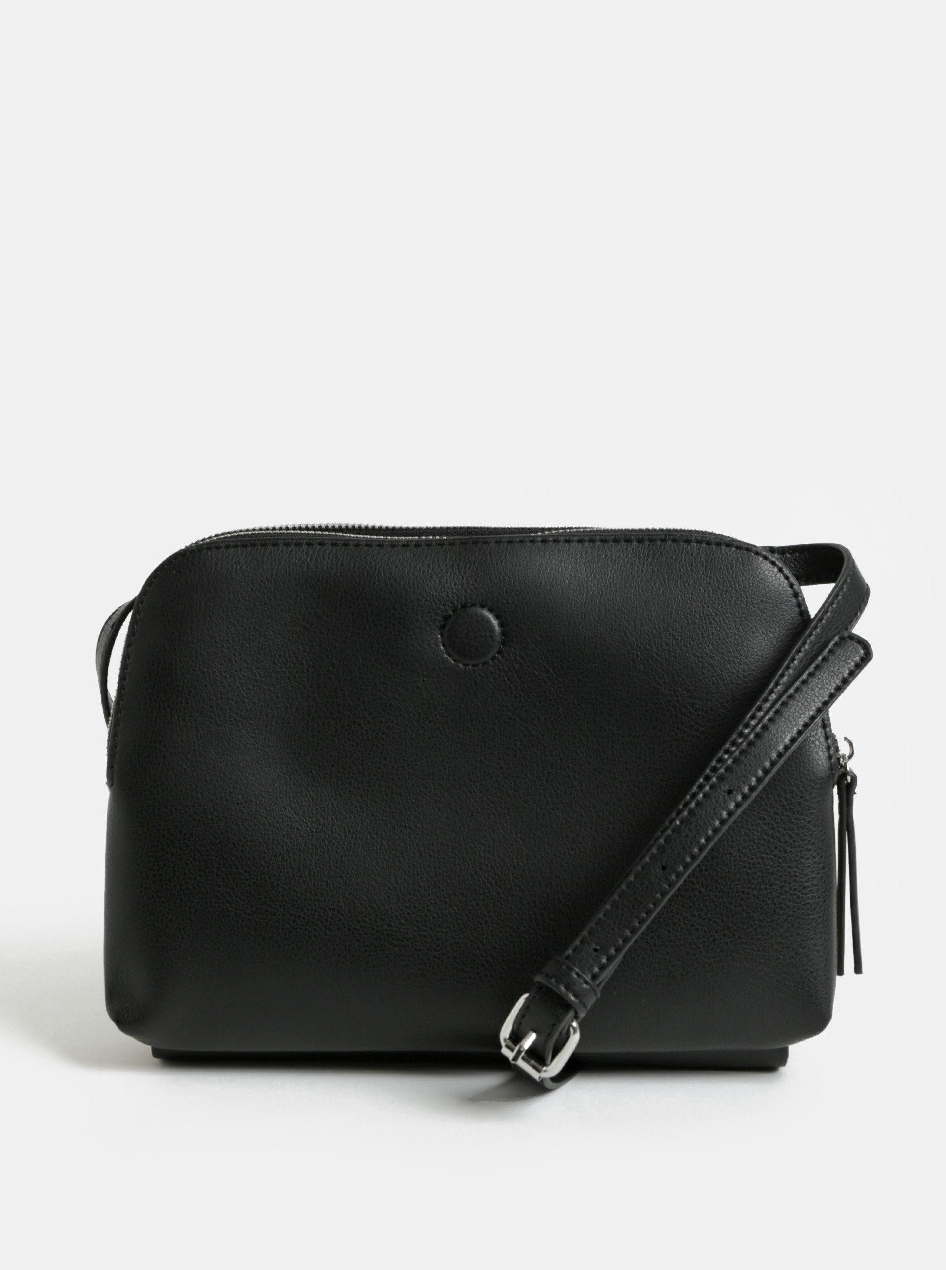 Hnědo-černá oboustranná crossbody kabelka Pieces Fareena