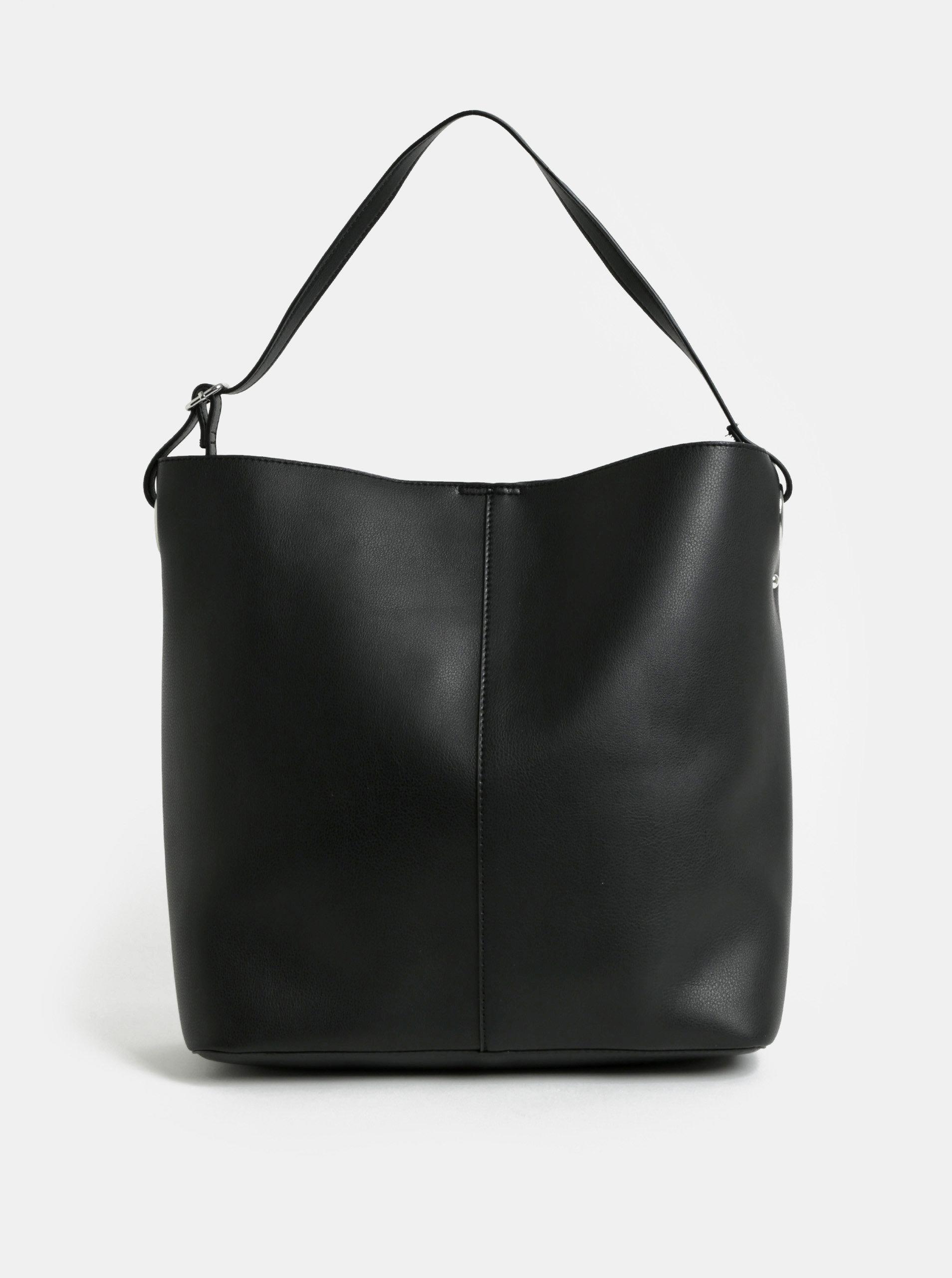 Černý shopper s odnímatelným pouzdrem Pieces Fareena
