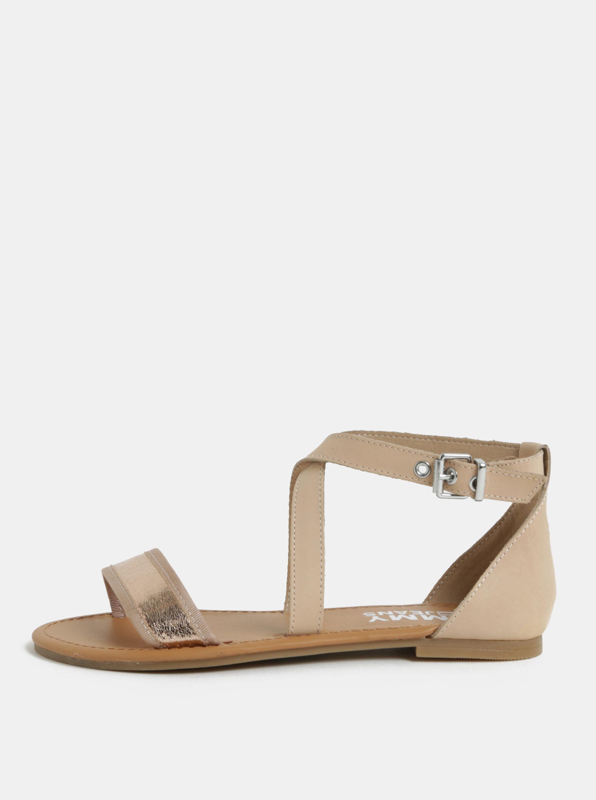 625e375387 Ružové dámske kožené sandále Tommy Hilfiger ...