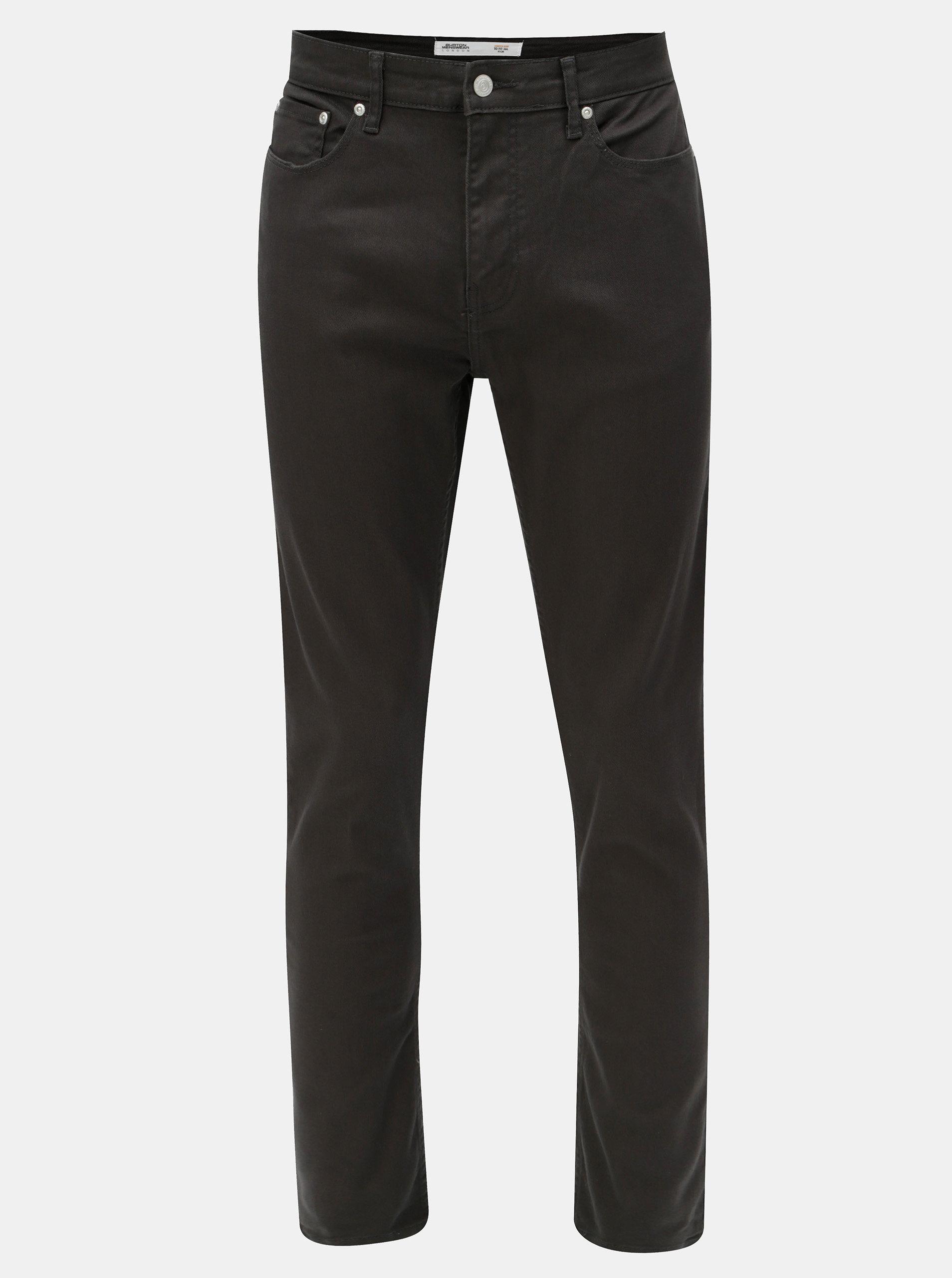 Tmavě šedé slim džíny Burton Menswear London