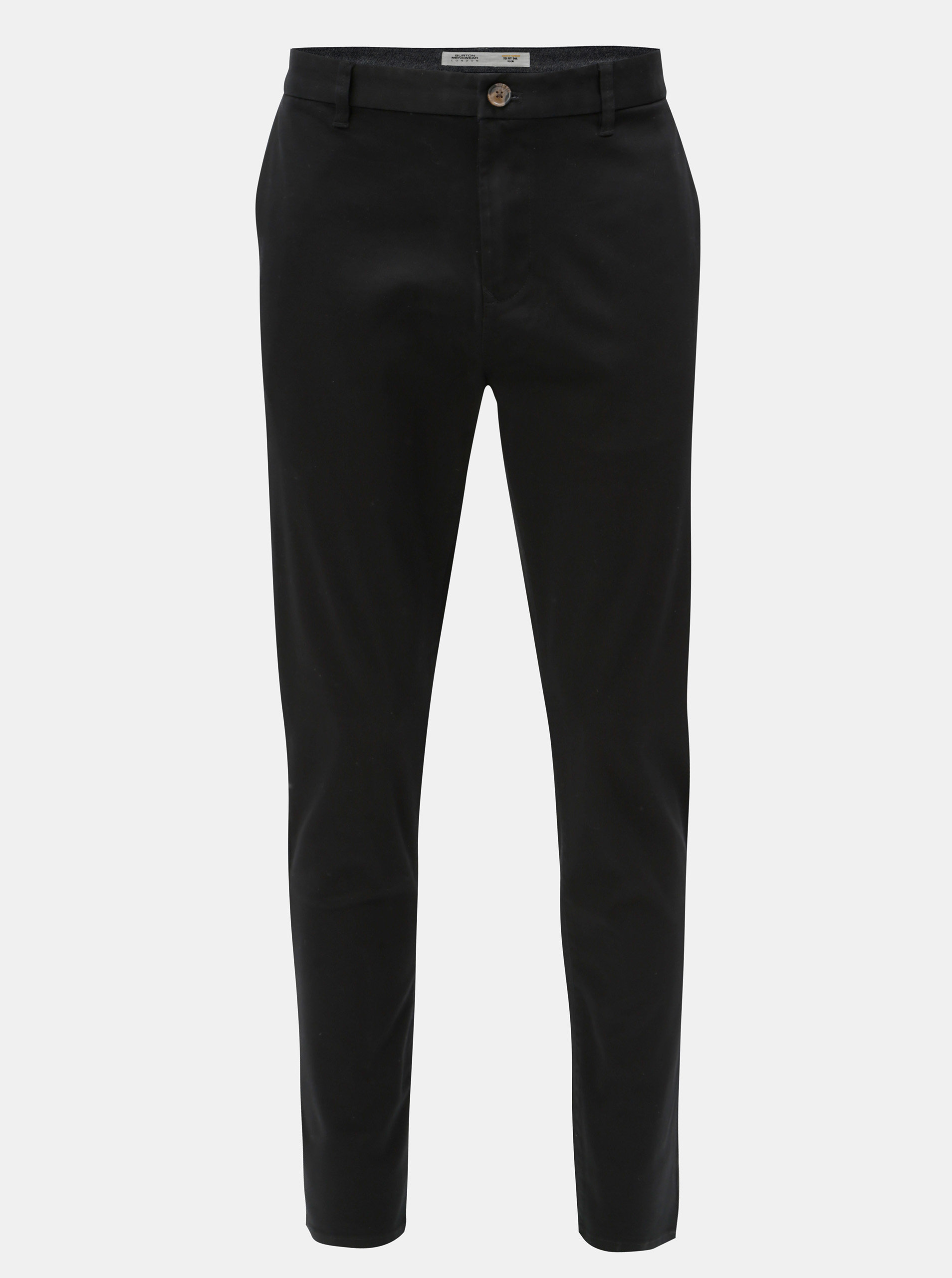 Černé tapered fit kalhoty Burton Menswear London