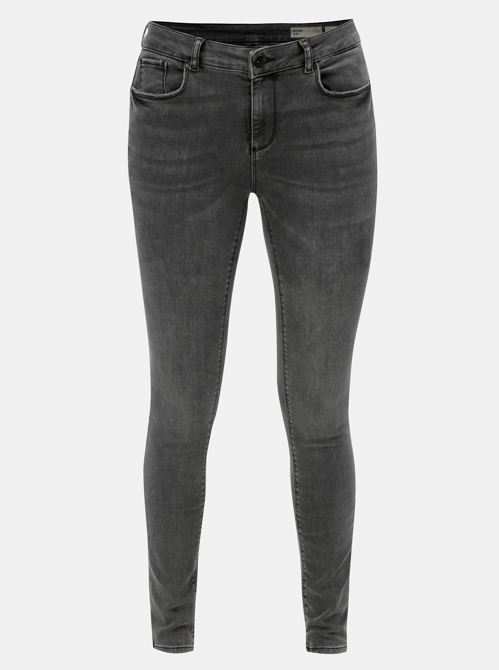 Šedé slim fit džíny VERO MODA