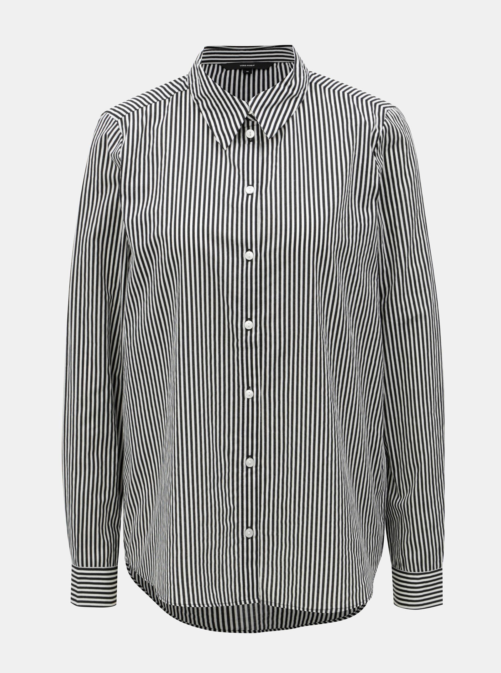 Bílo-černá pruhovaná košile VERO MODA ... b7ef81bdfa