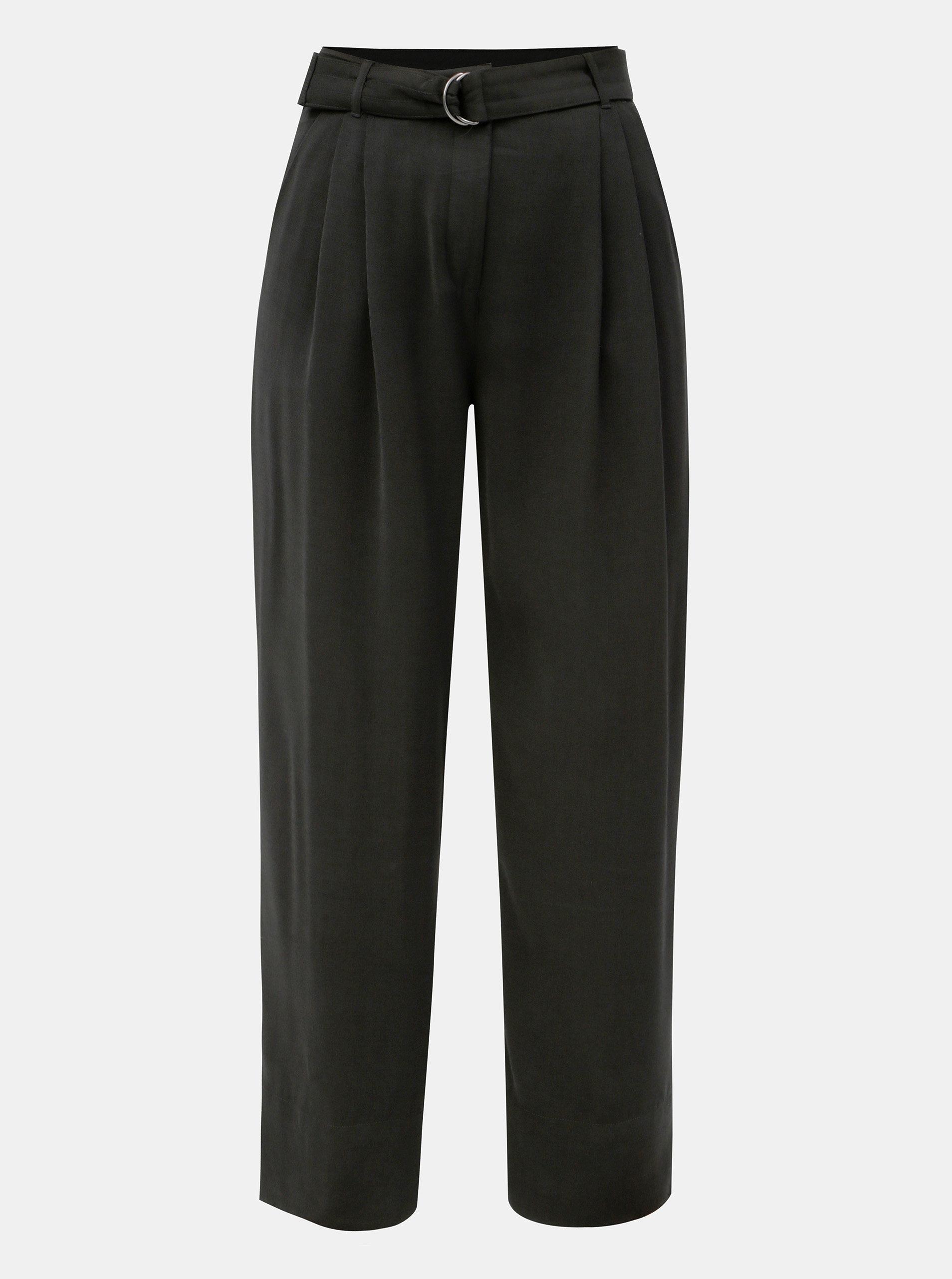 Černé volné kalhoty s vysokým pasem a páskem Jacqueline de Yong Enzo ... acd63756e1