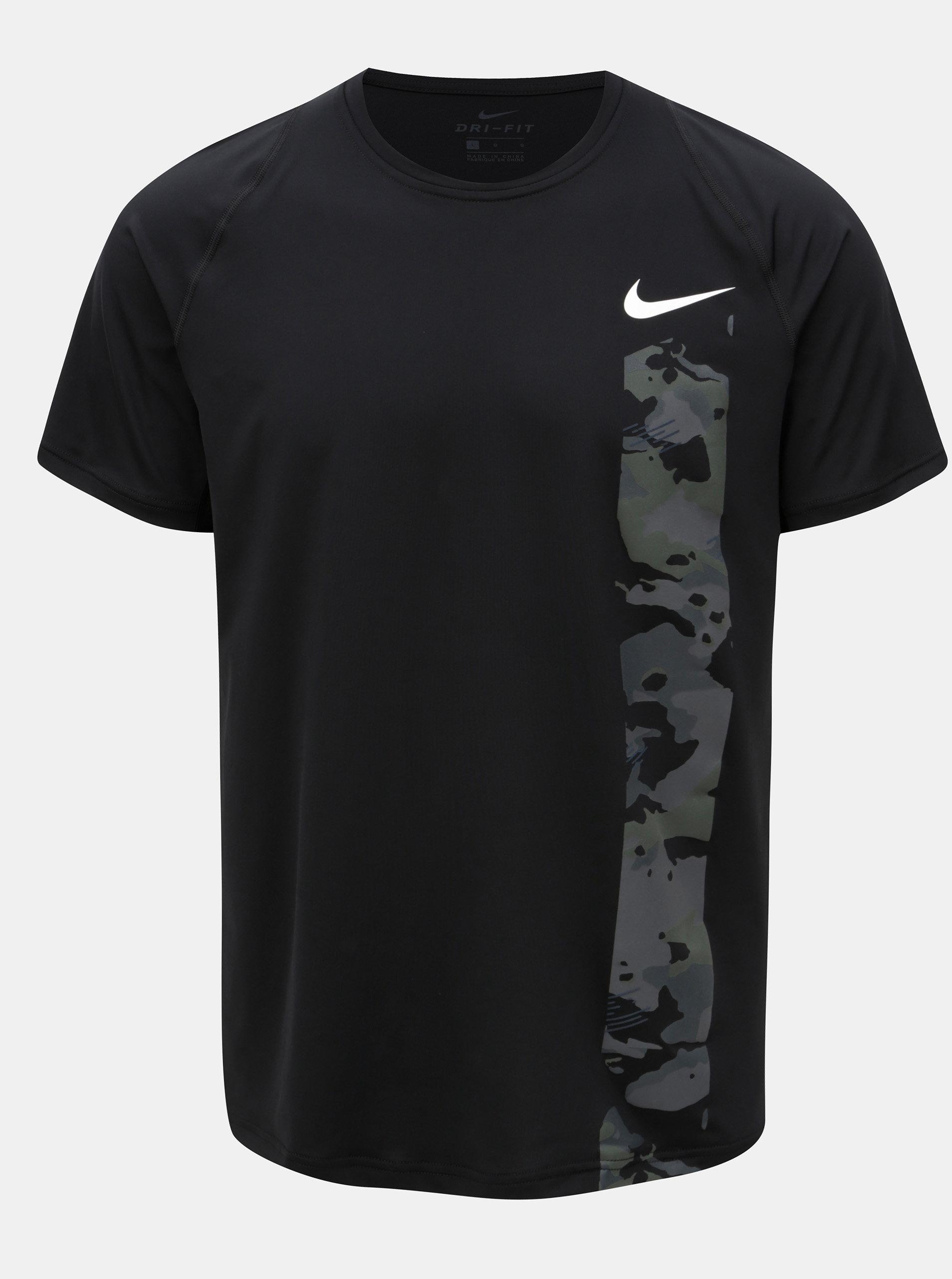 7e7abd34a Čierne pánske funkčné slim fit tričko s potlačou Nike | ZOOT.sk