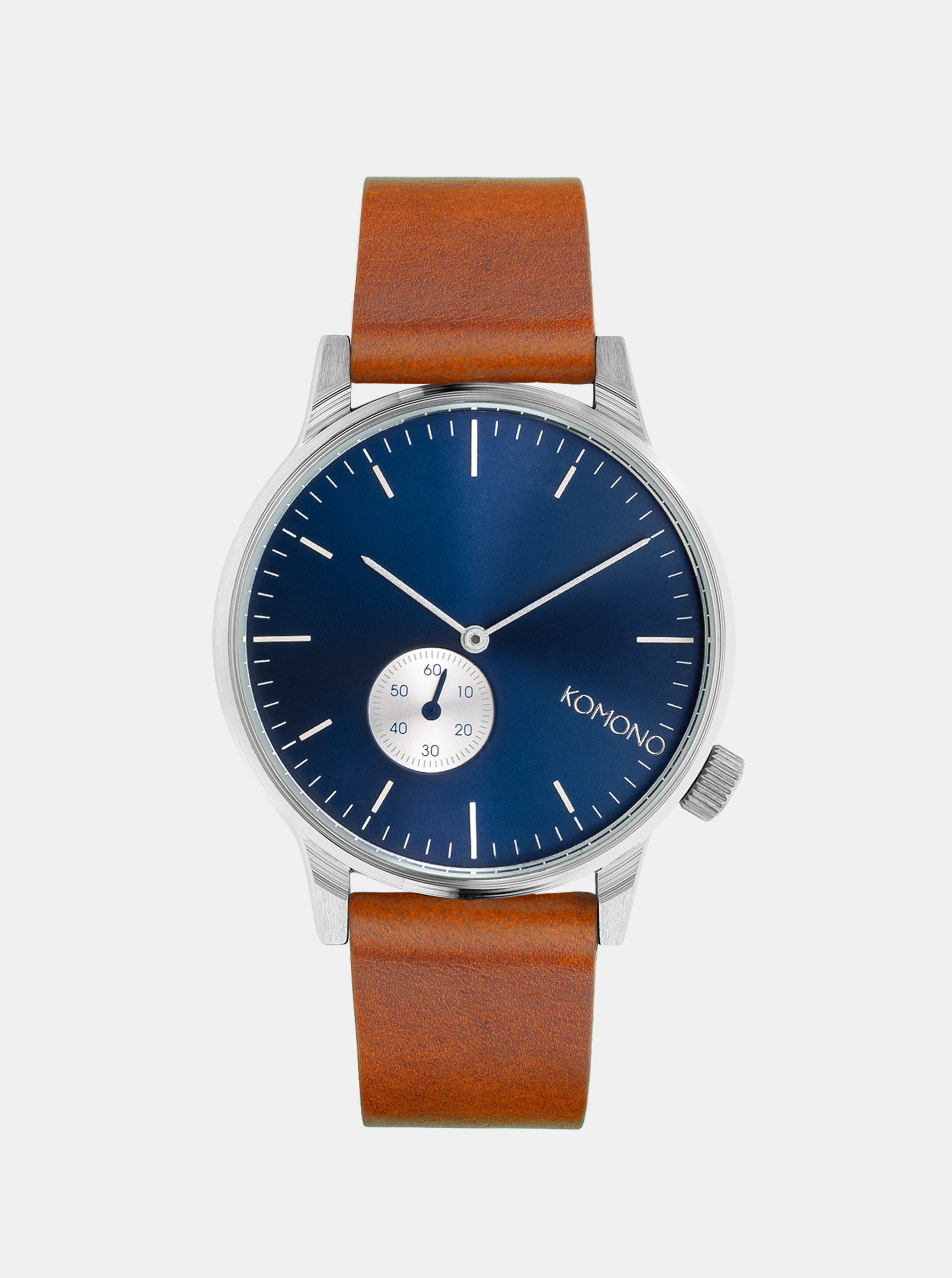 Unisex hodinky s hnědým koženým páskem Komono Winston Subs
