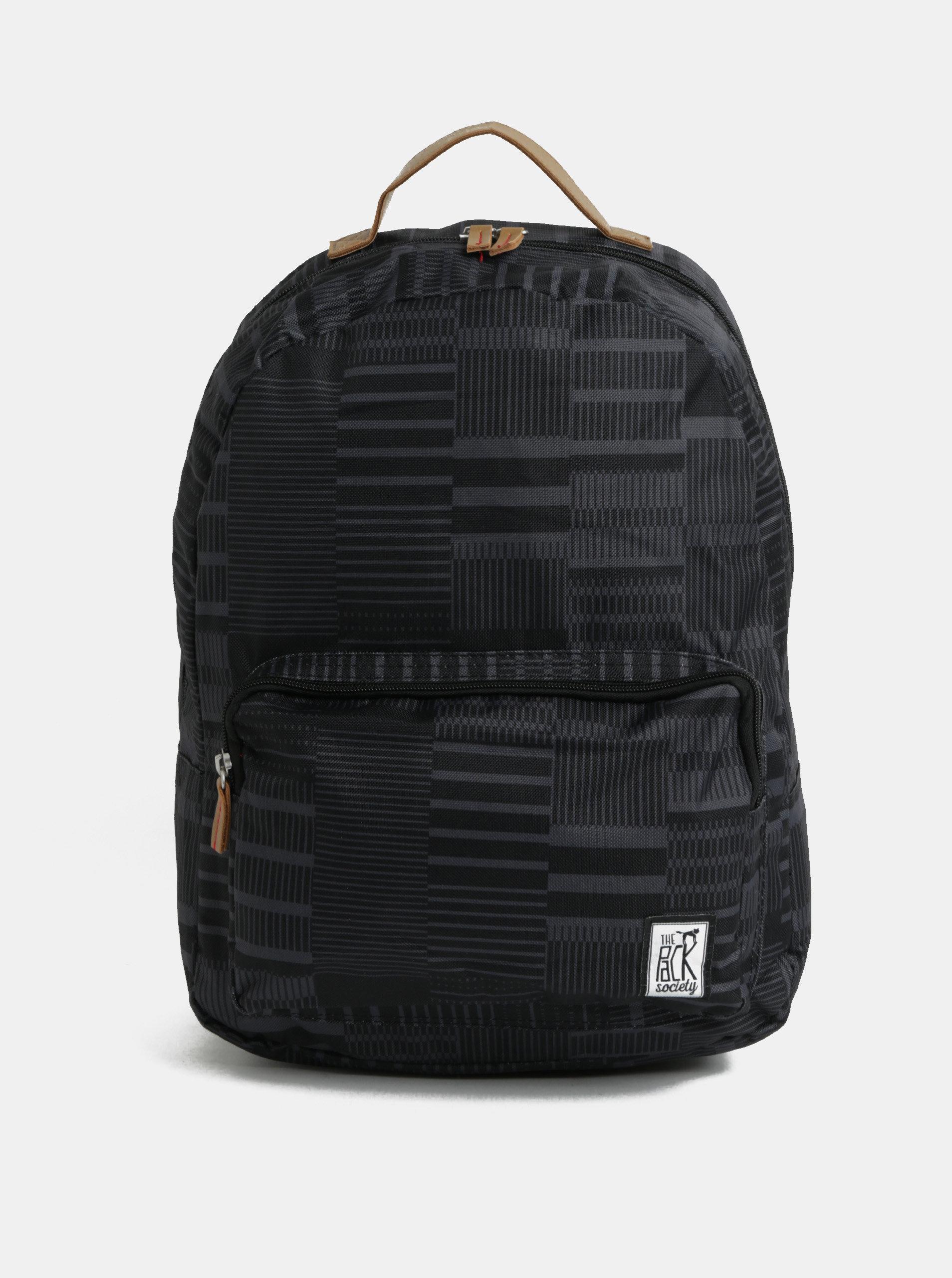 1abf2939965 Černý vzorovaný batoh The Pack Society 18 l ...