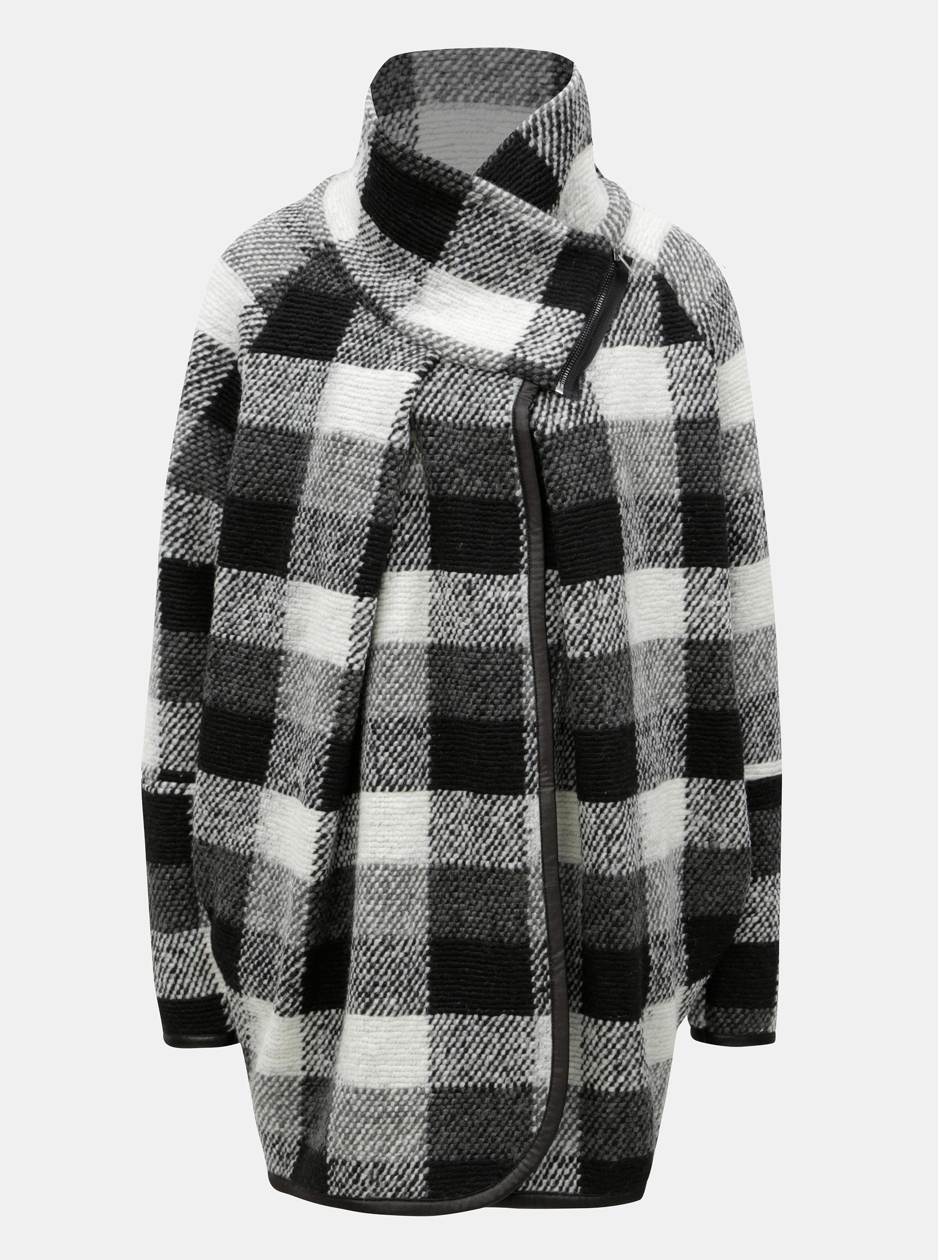 Krémovo-čierny dámsky vzorovaný kabát Broadway Maisy ... 646d62a591a