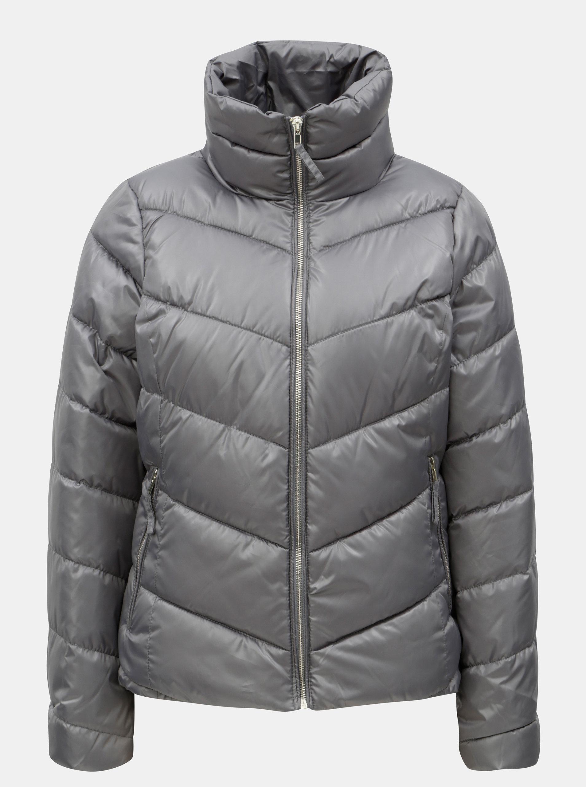 Šedá dámská prošívaná bunda Broadway Norma - Akční cena  a6a46faa2c