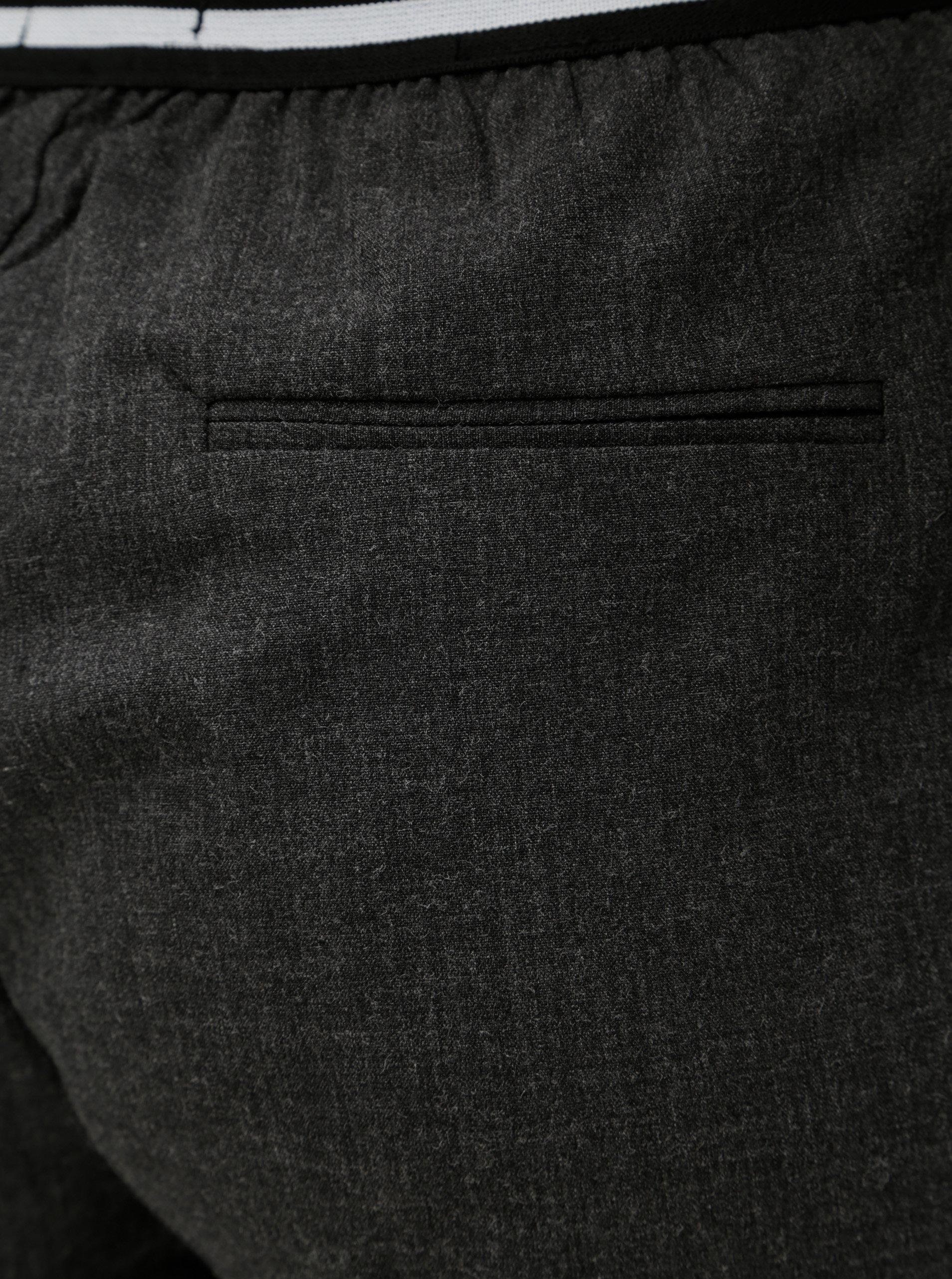 Šedé dámské zkrácené kalhoty s elastickým pasem Broadway Gabby ... 87a9d5c6d3