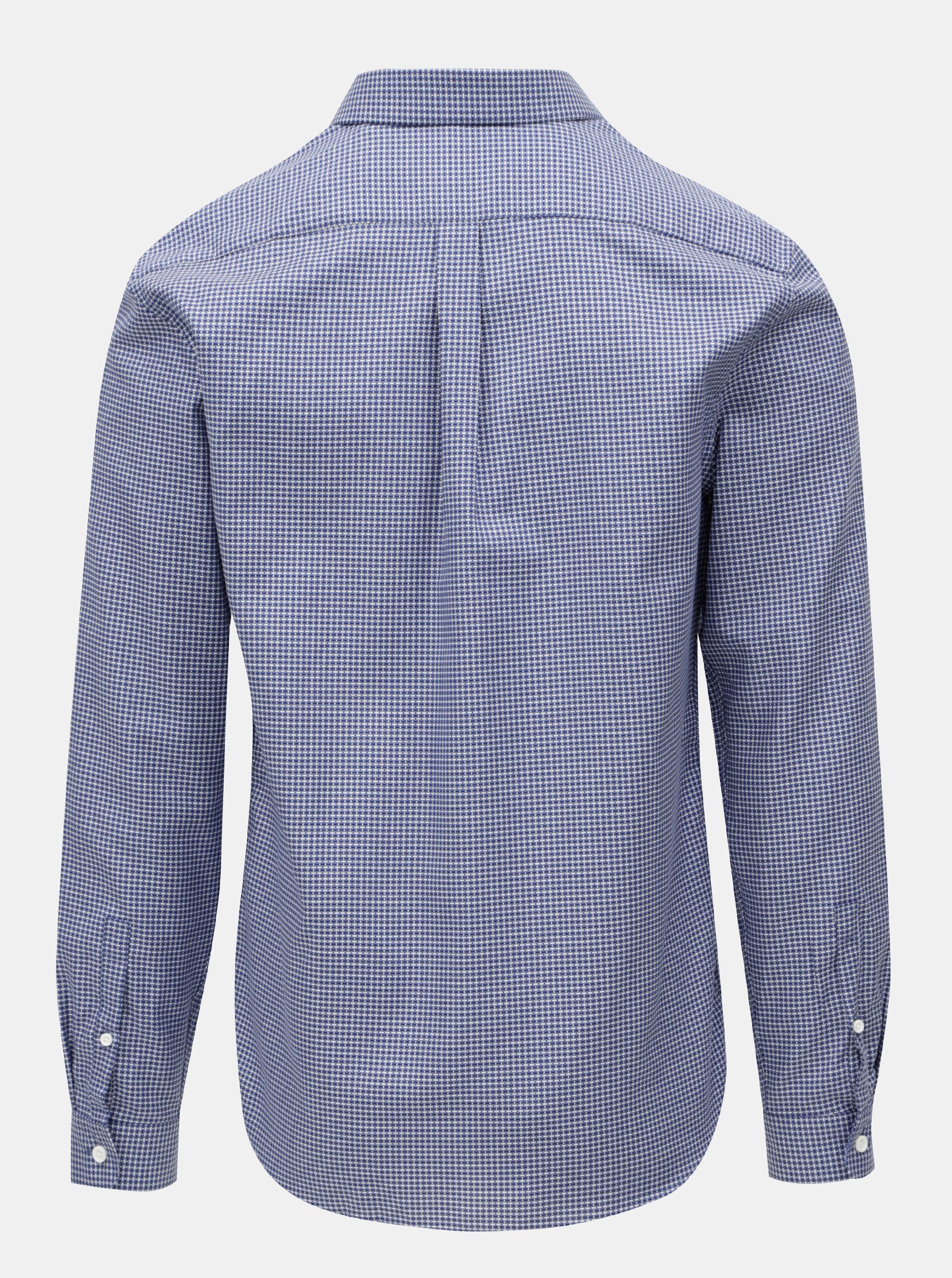 Bílo-modrá vzorovaná košile Lindbergh ... b7952971aa