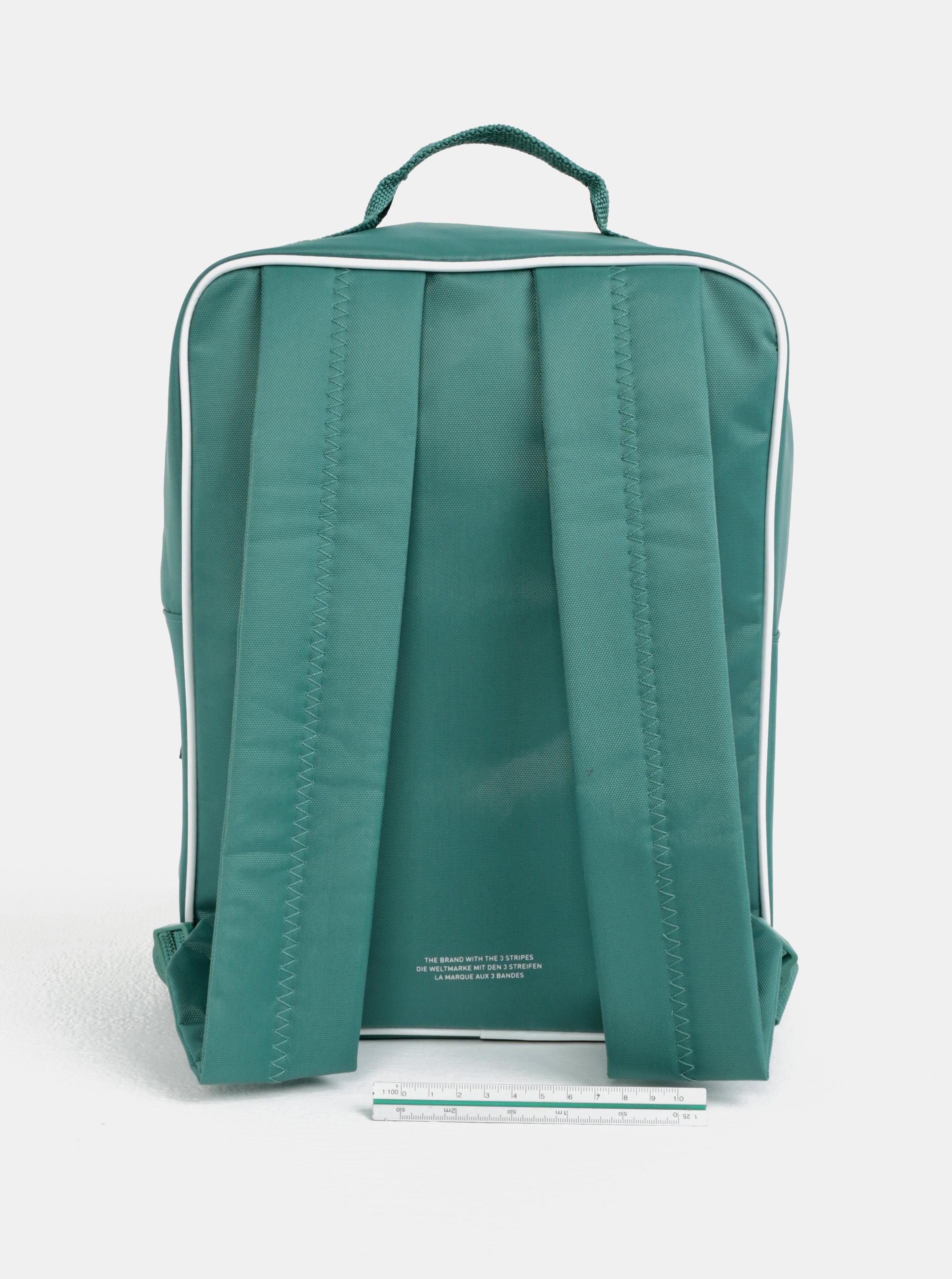 b20f32f1b7 Zelený batoh s potiskem adidas Originals ...