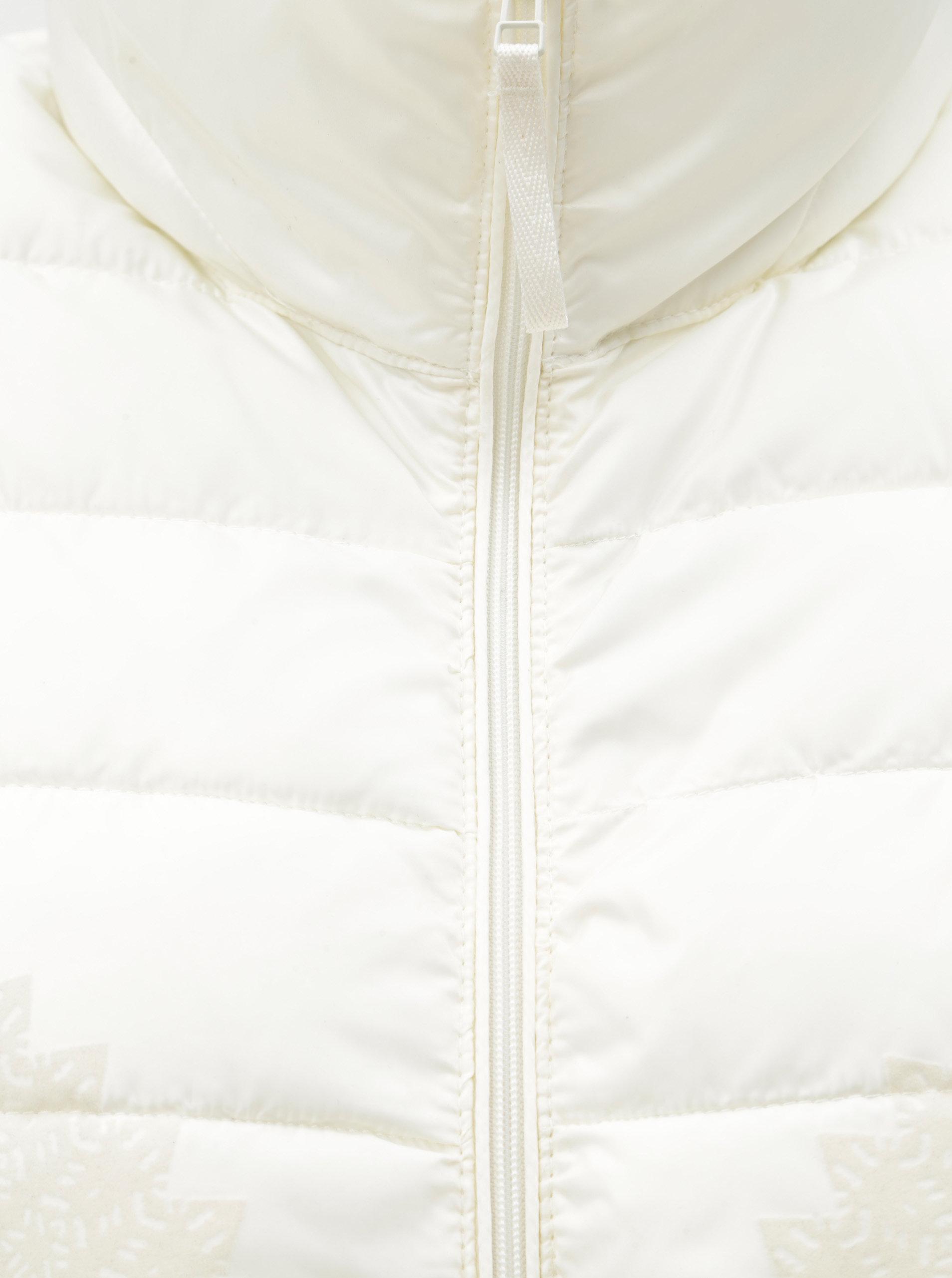 4ccf7e94c2d Krémová prošívaná lehká bunda se vzorem Desigual Pune - Akční cena ...