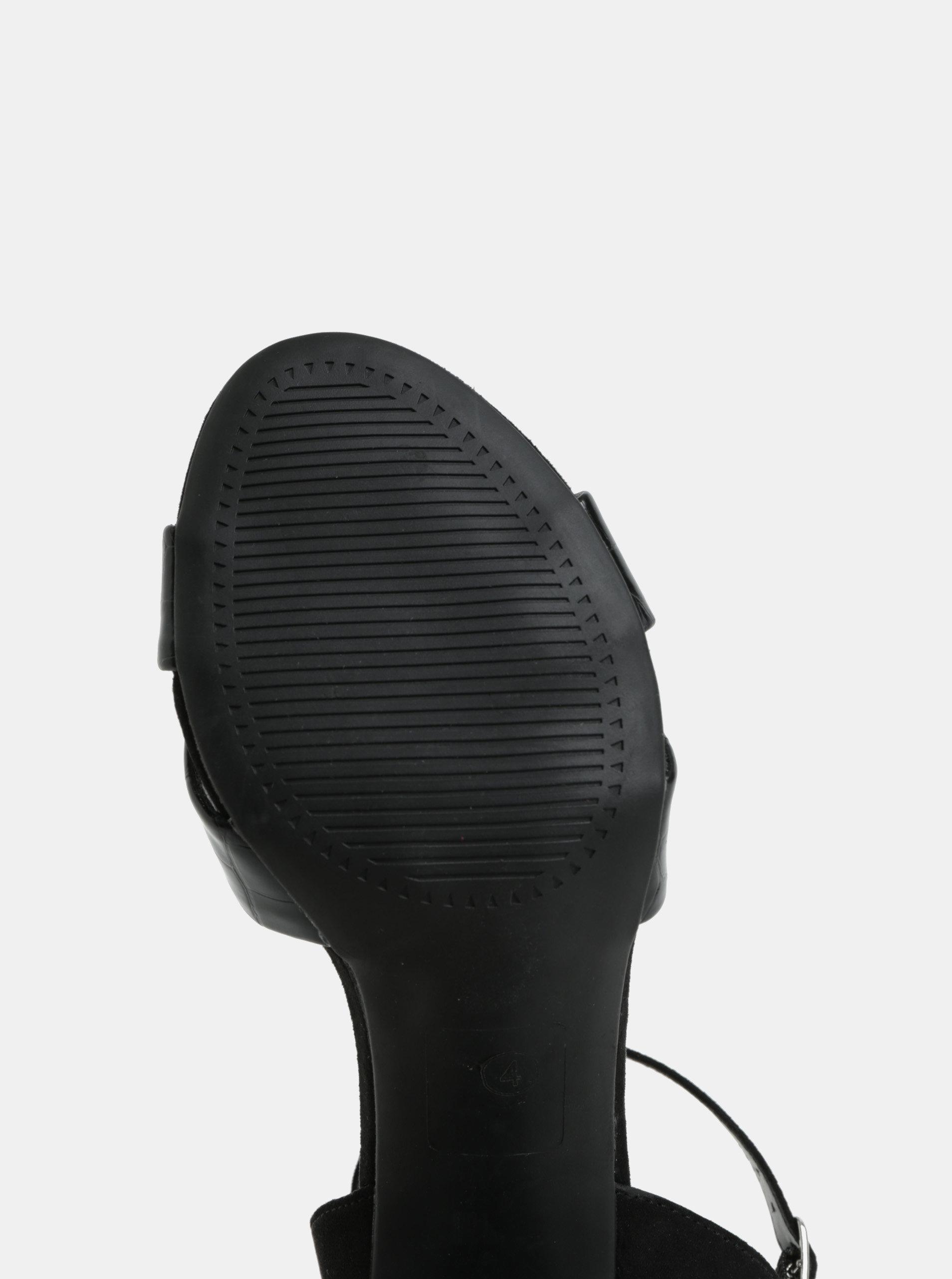 21695f04c9 Čierne sandále na vysokom podpätku Dorothy Perkins Serena ...