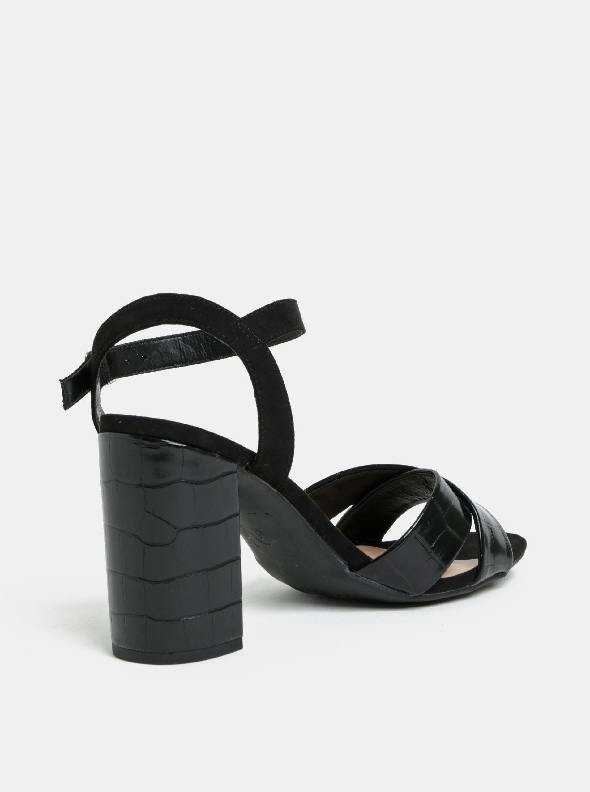5288aad5183b Čierne sandále na vysokom podpätku Dorothy Perkins Serena ...