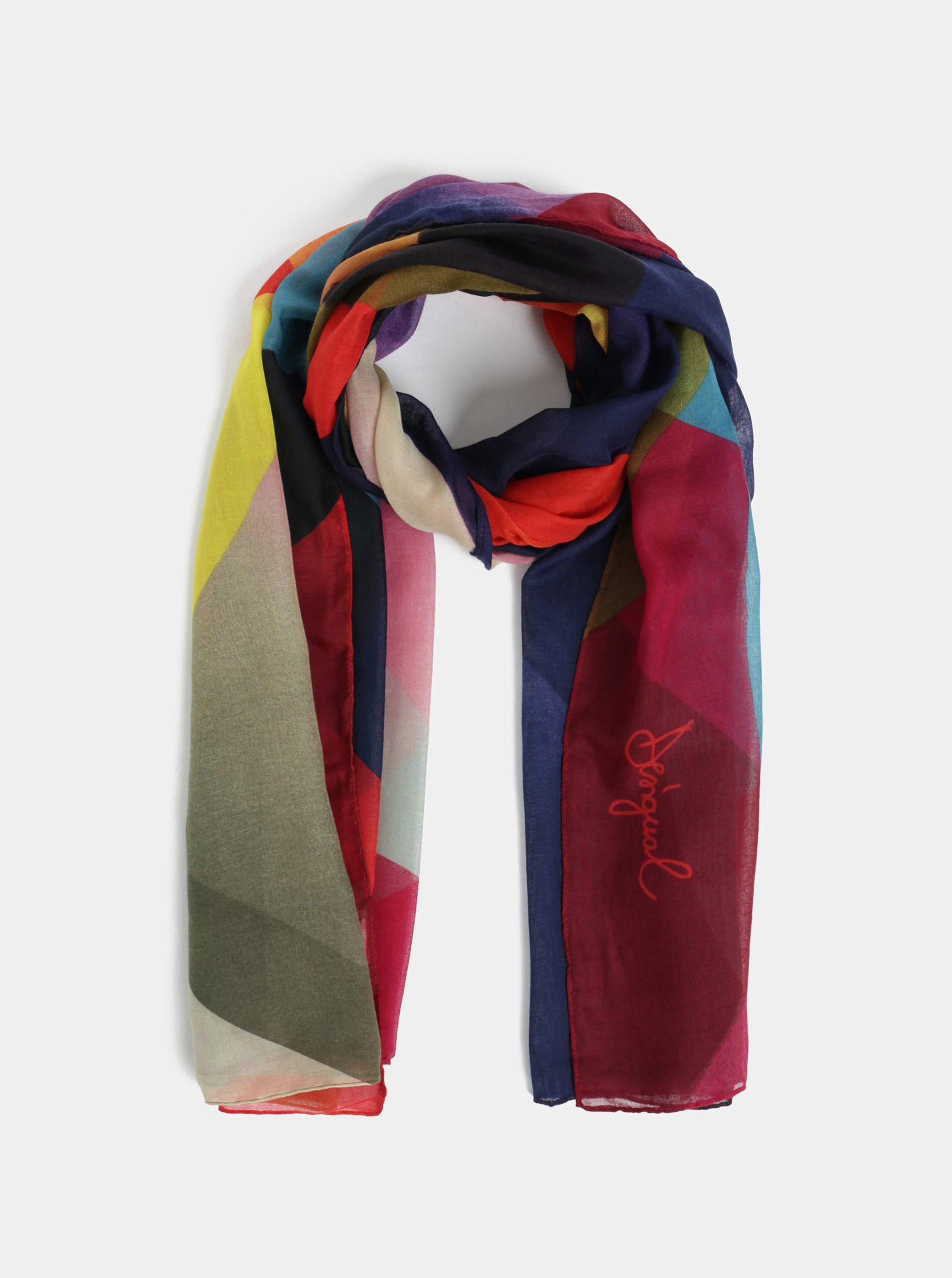 Modro-červený šátek Desigual Mercury