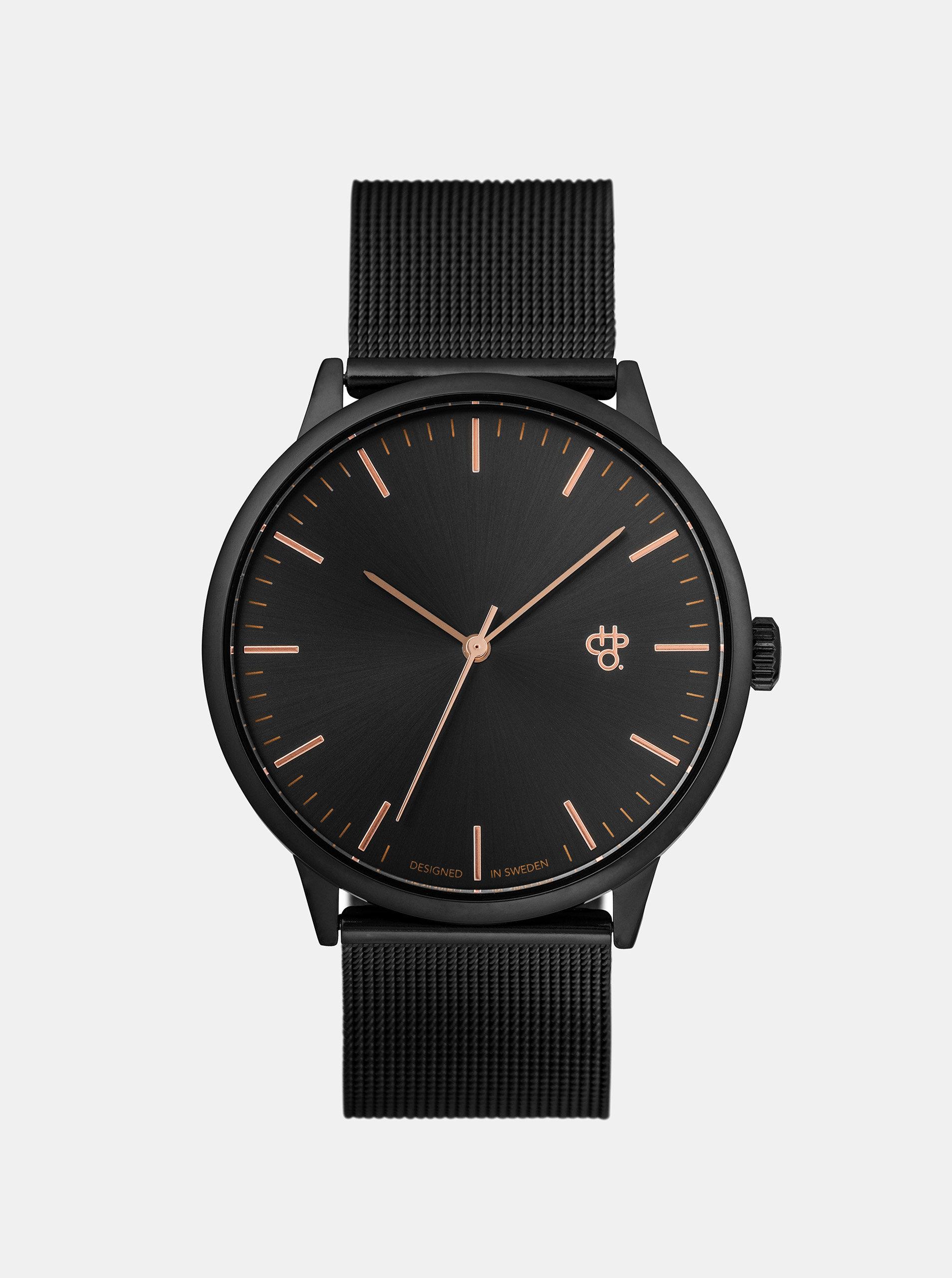 Unisex hodinky v tmavě šedé metalické barvě CHPO Nando